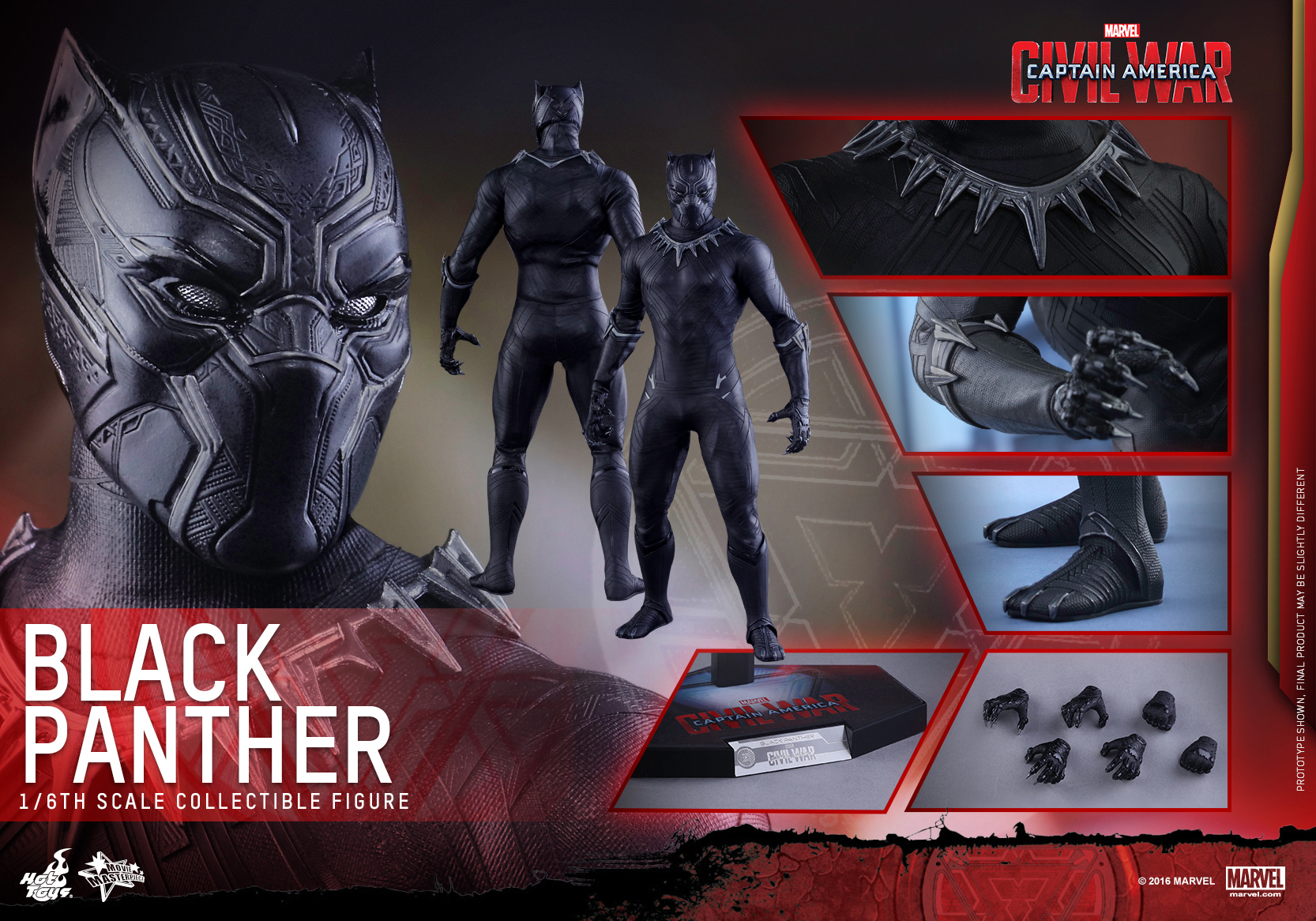 Hot Toys - Captain America Civil War - Black Panther Collectible Figure PR_16