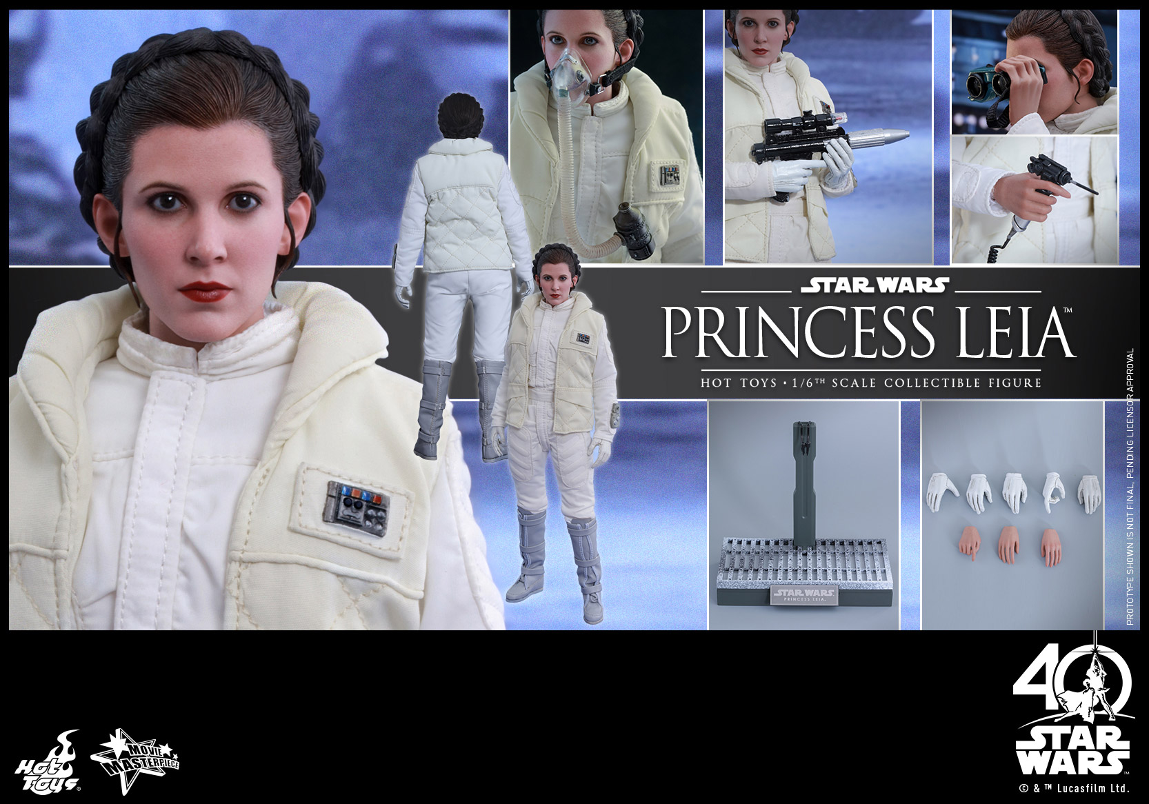 Hot Toys - Star Wars - EP5 - Princess Leia collecitble figure_PR18