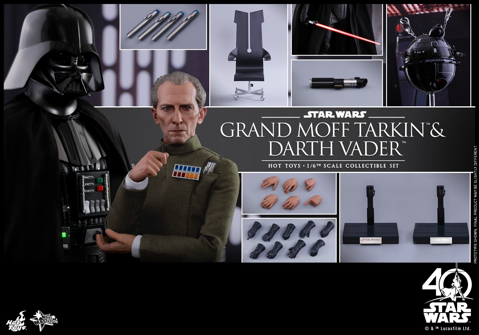 Hot Toys - SW - Grand Moff Tarkin & Darth Vader Collectible Set_PR15