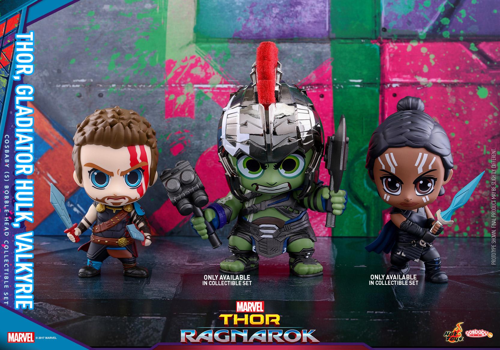 Hot Toys - Thor 3 - Thor, Gladiator Hulk & Valkyrie Cosbaby Set_PR1