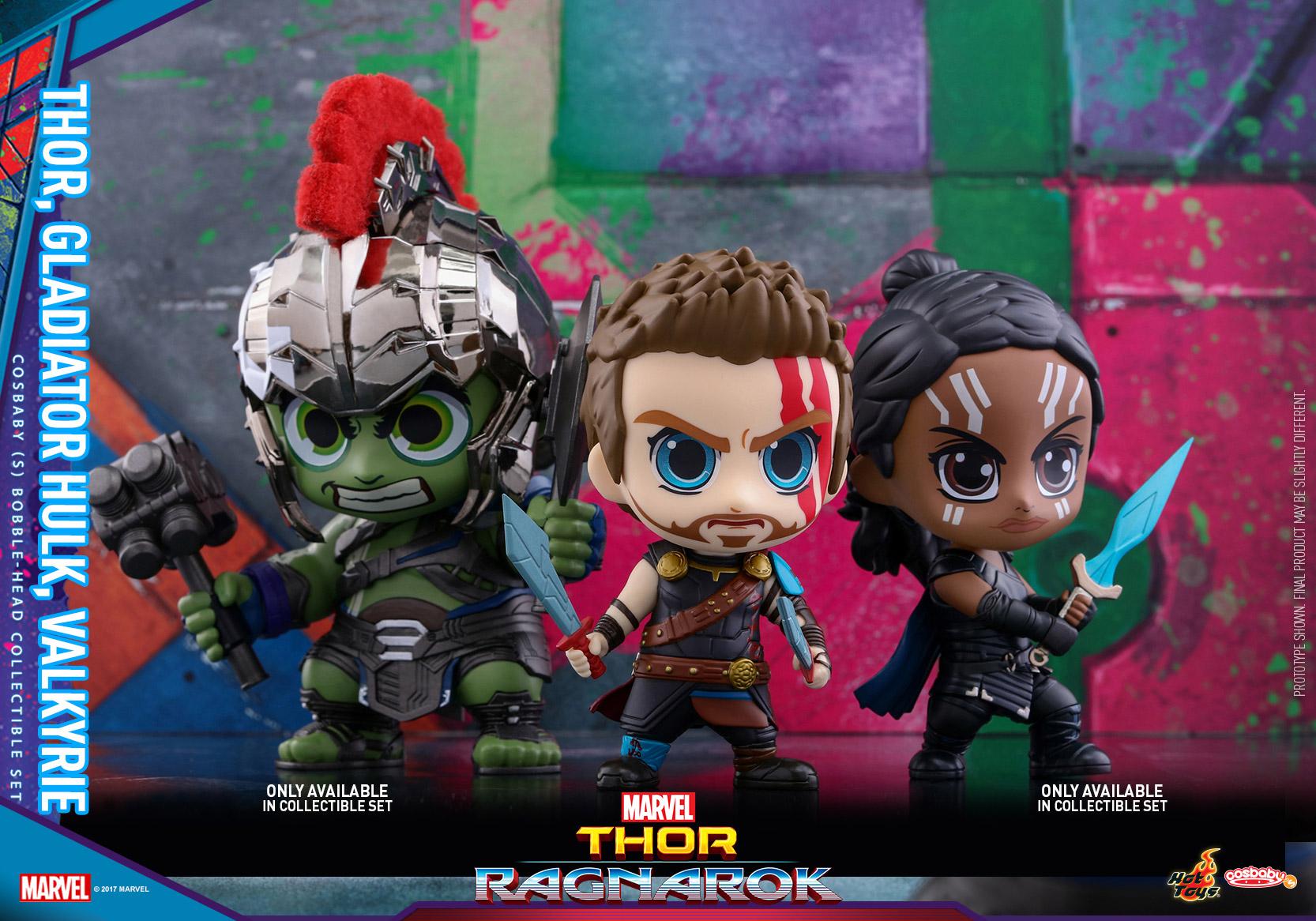 Hot Toys - Thor 3 - Thor, Gladiator Hulk & Valkyrie Cosbaby Set_PR2