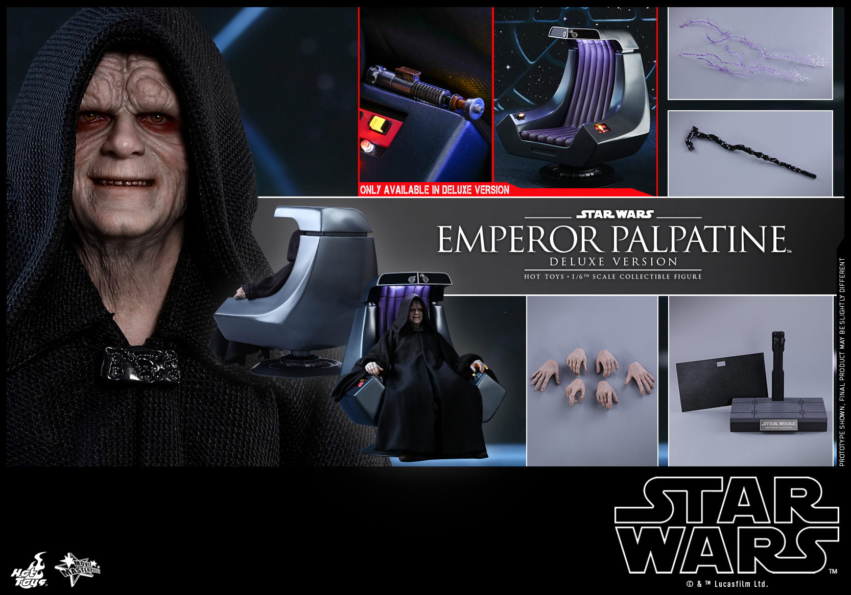 Hot Toys - SW - Emperor Palpatine collectible figure (Deluxe)_PR25