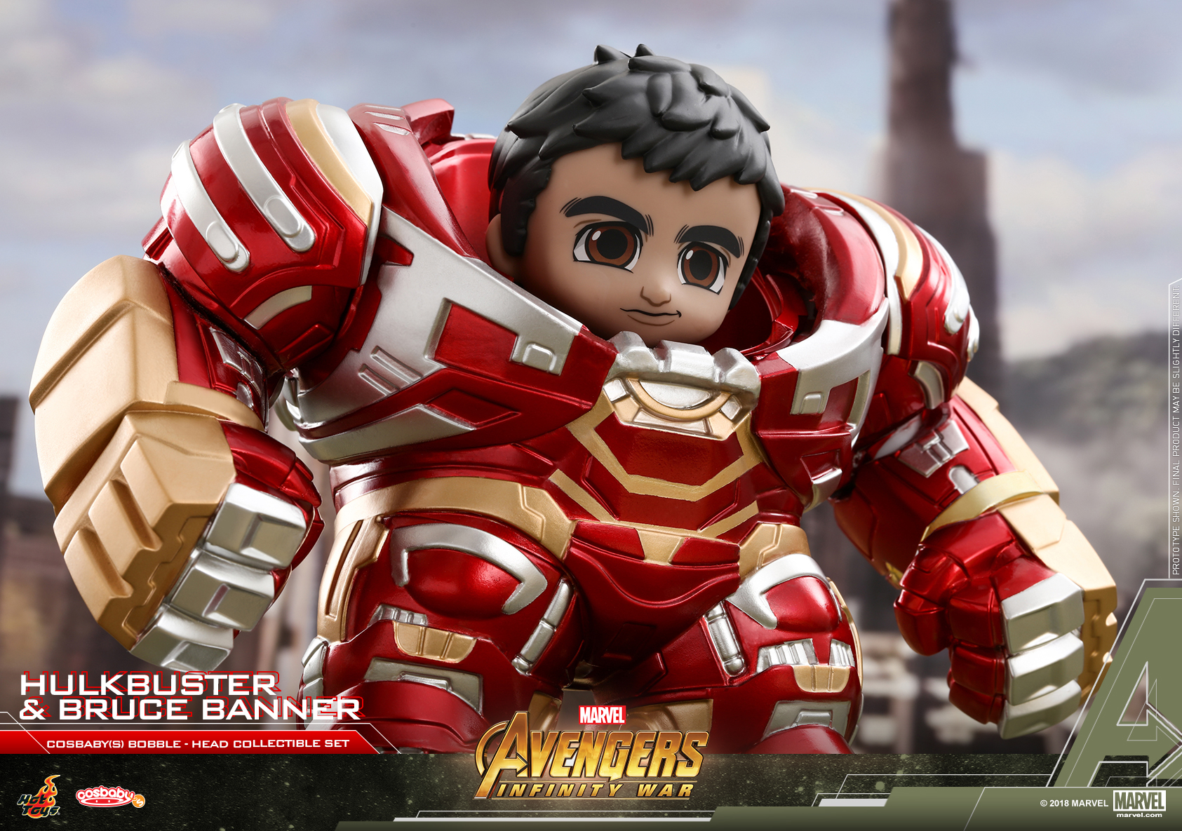 Hot Toys - AIW - Hulkbuster & Bruce Banner COSBABY(S) collectible set_PR2