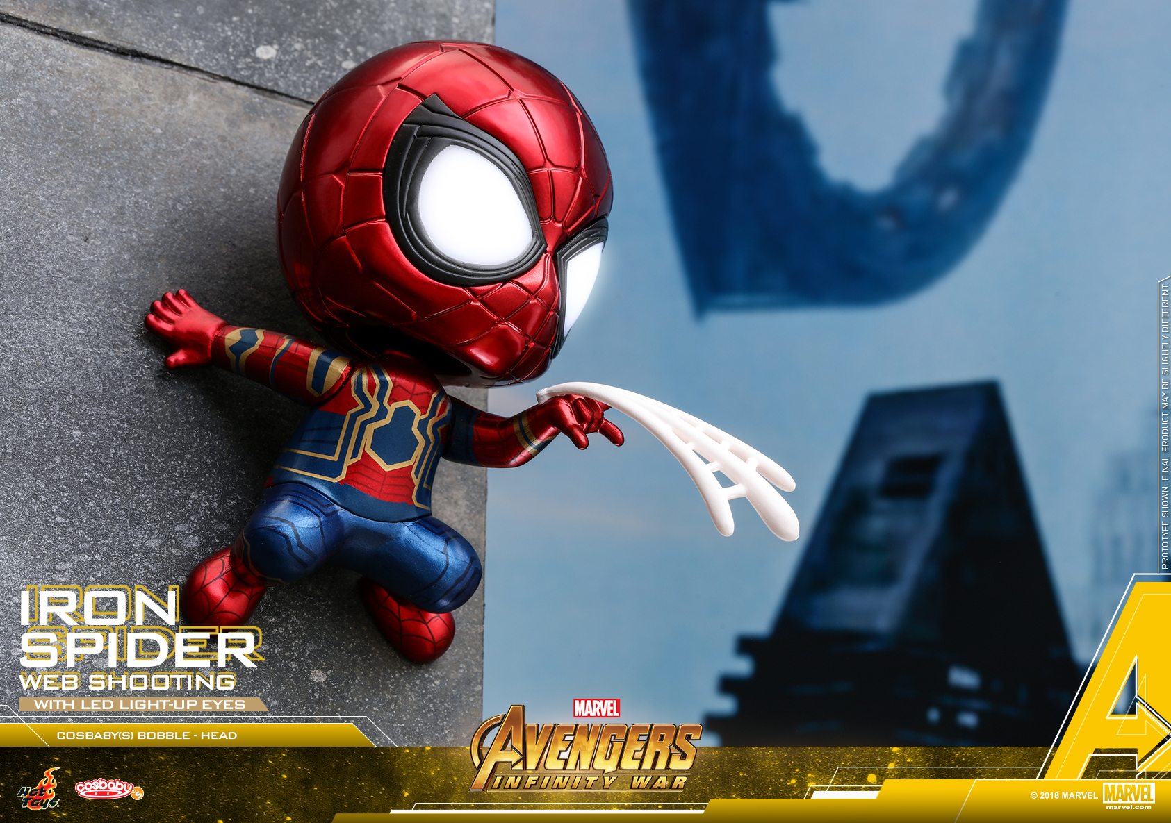 Hot Toys - AIW - Iron Spider (Web Shooter) Cosbaby(S)_PR1