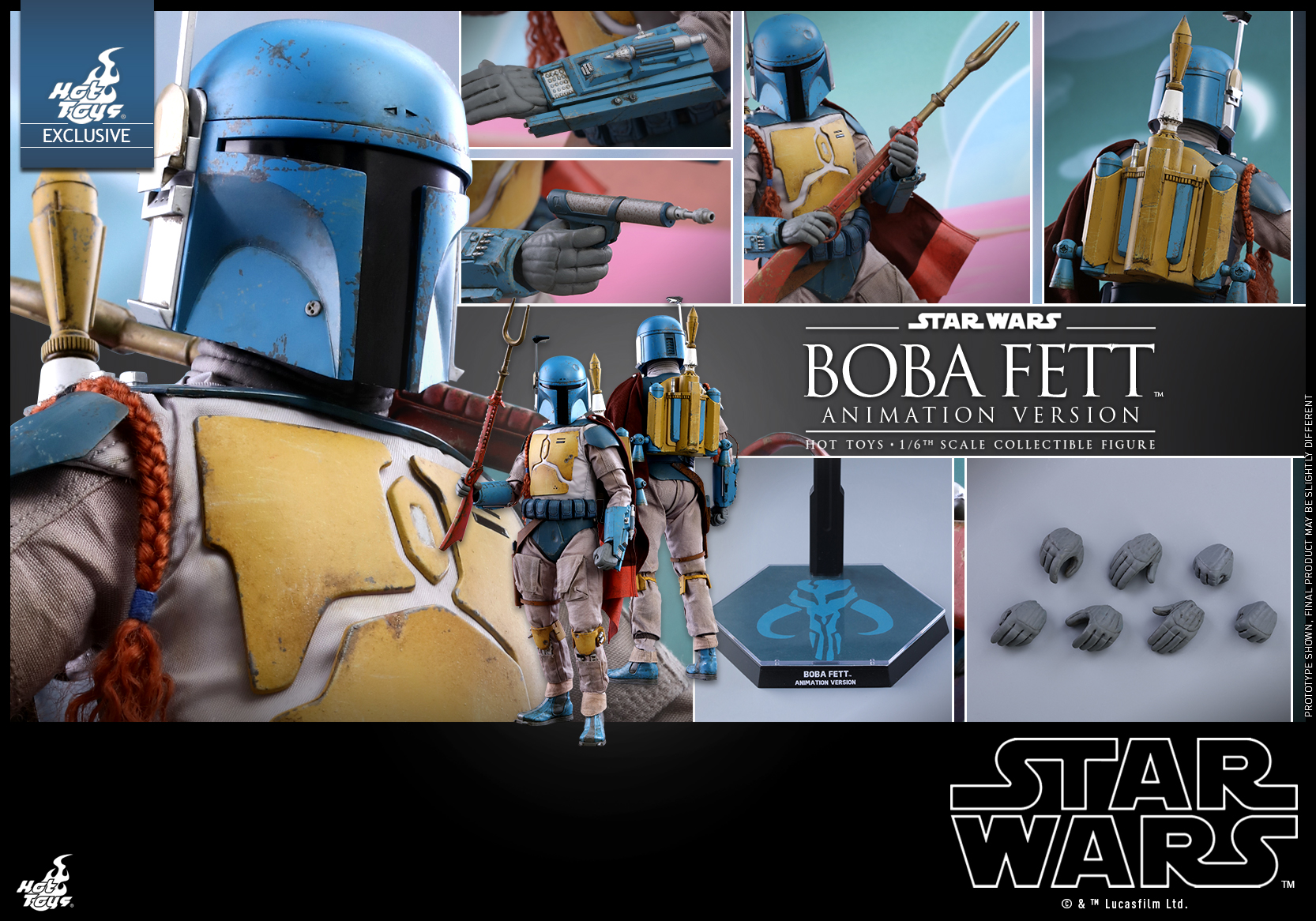 Hot Toys - Star Wars - Boba Fett (Animation Version) collectible figure_PR17