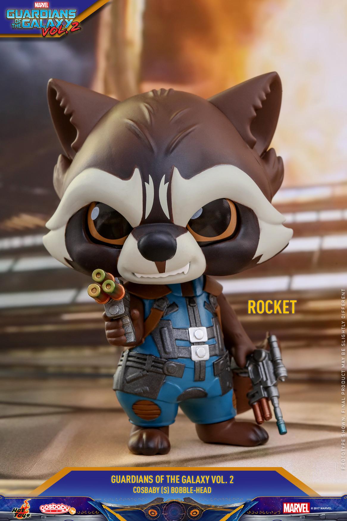 《银河护卫队2》火箭浣熊cosbaby 迷你珍藏人偶 Hot Toys 中国