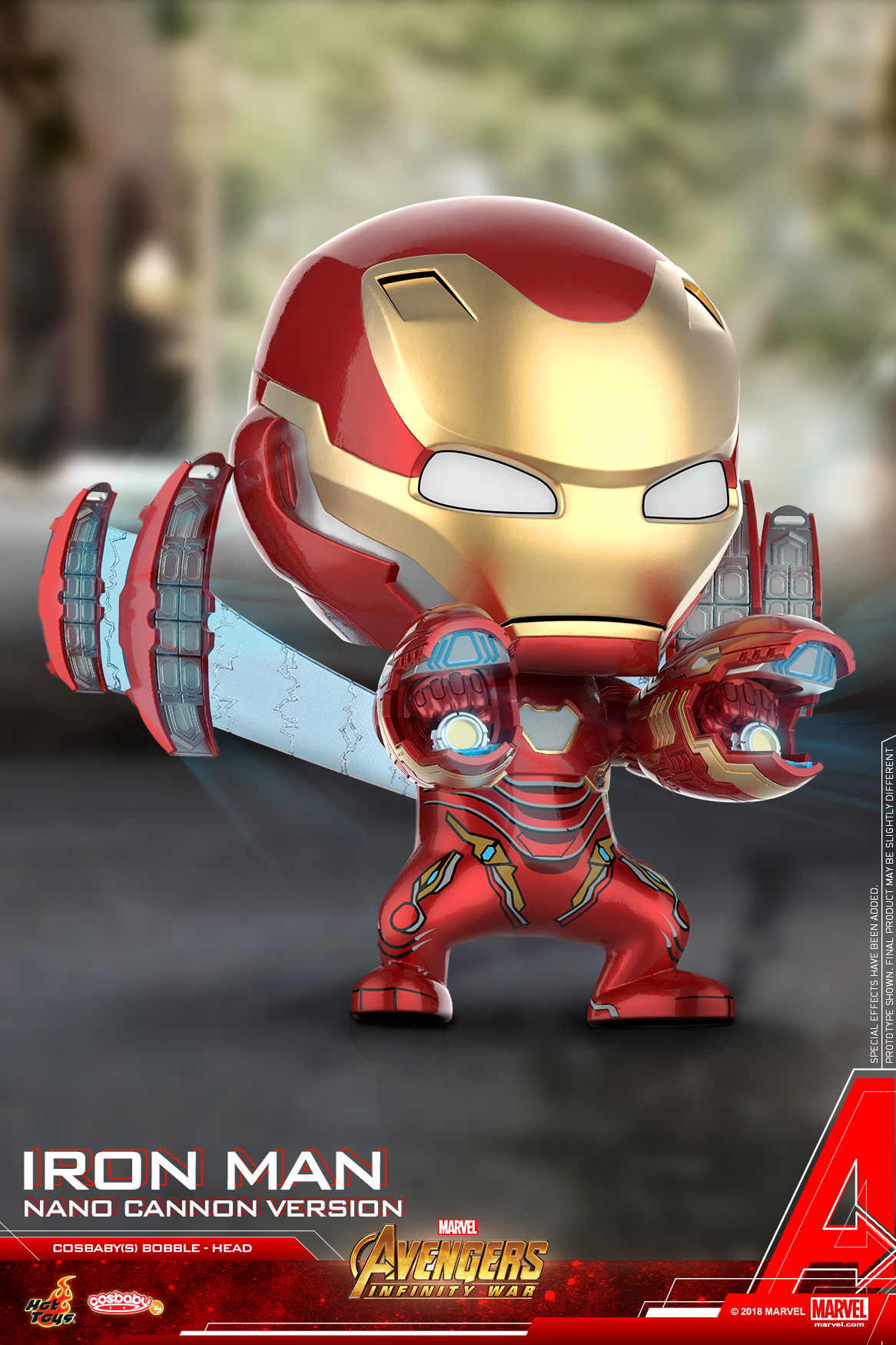 Hot Toys - Avengers 3 - Iron Man Mark L (Nano Cannon Version) Cosbaby (S)_PR2