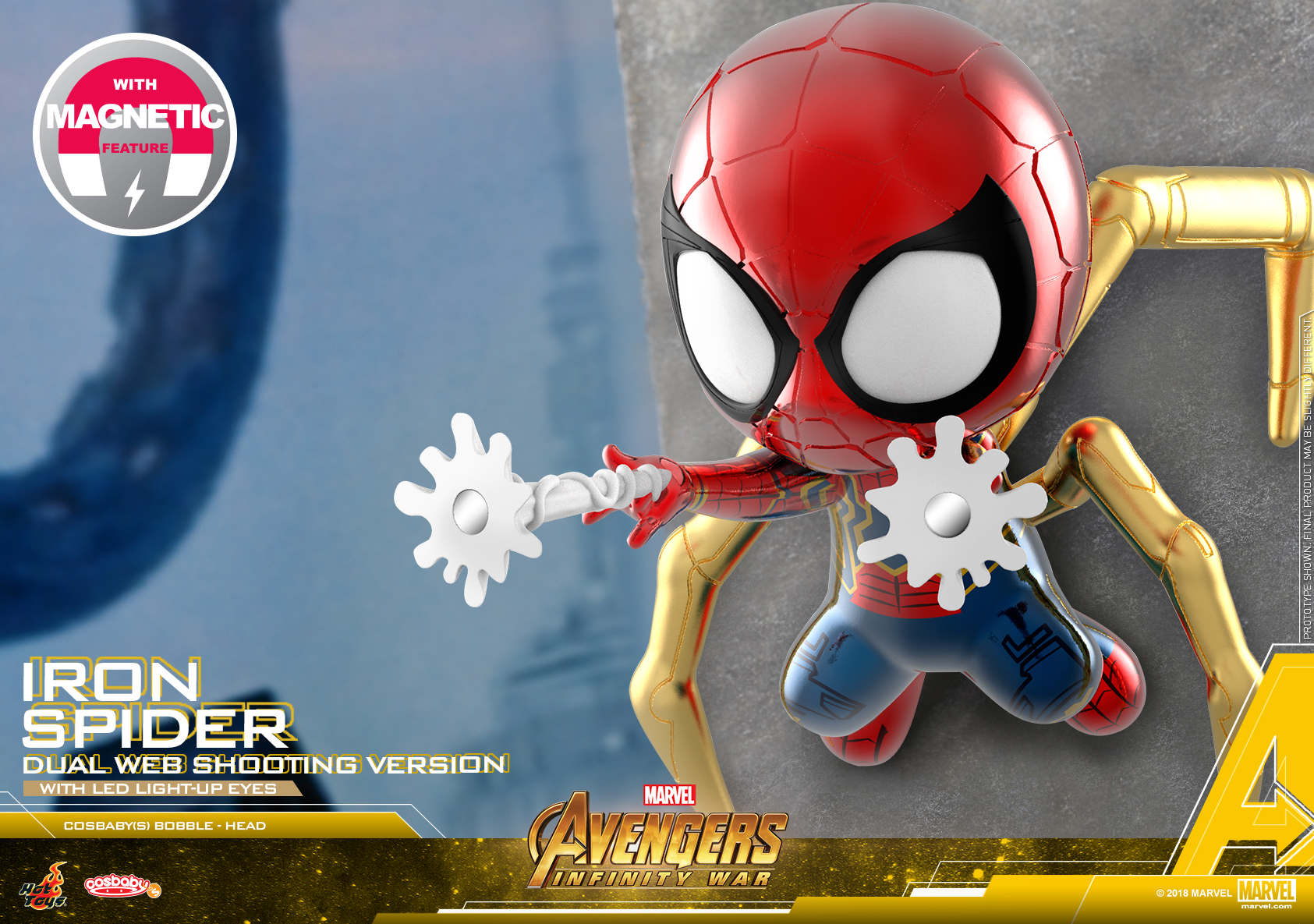 Hot Toys - Avengers 3 - Iron Spider (Dual Web Shooting Version) Cosbaby (S)_PR1