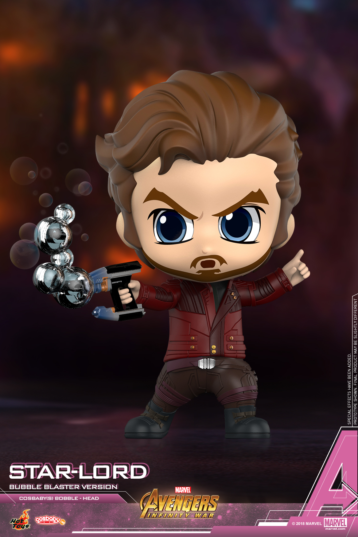 Hot Toys - Avengers 3 - Star-Lord (Bubble Blaster Version) Cosbaby (S)_PR2