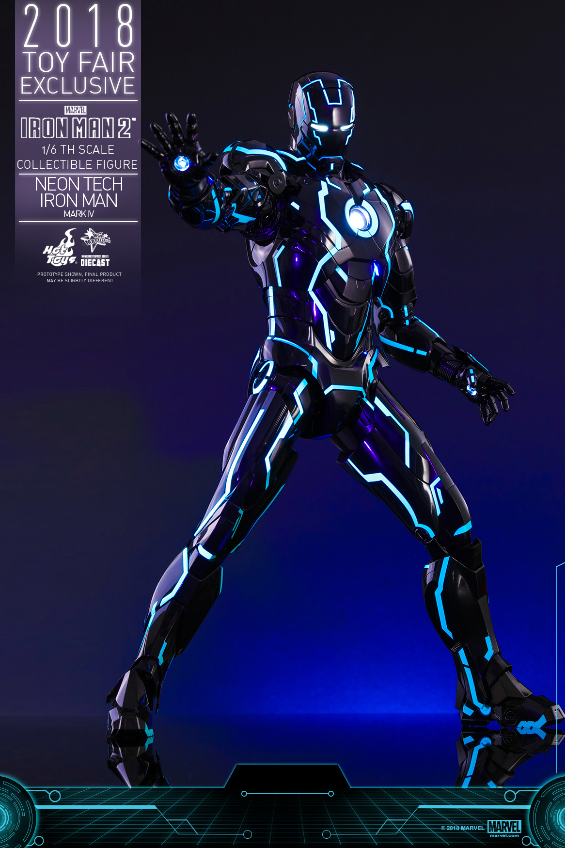 Hot Toys - Iron Man 2 - Neon Tech Iron Man Mark IV collectible figure_PR1