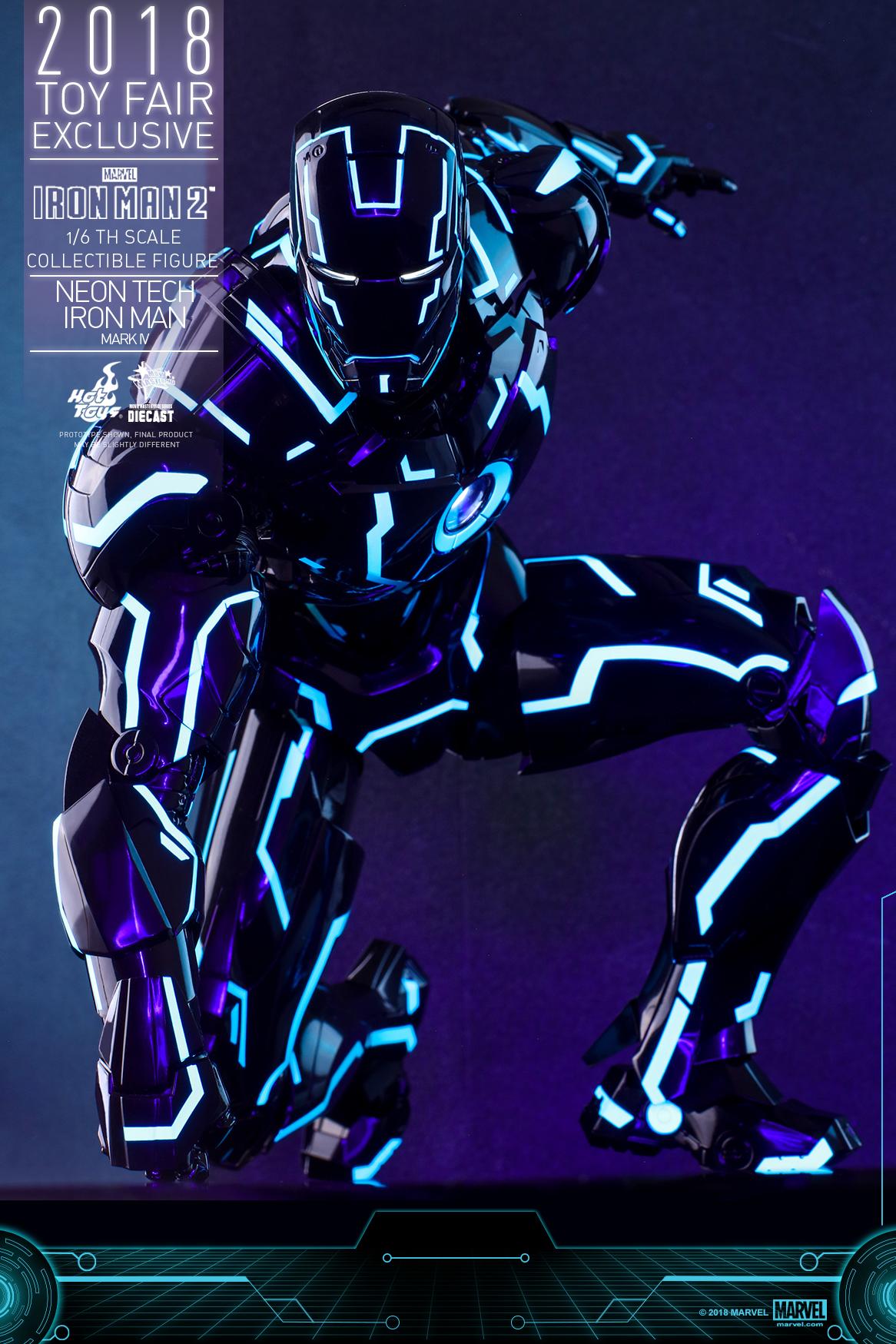Hot Toys - Iron Man 2 - Neon Tech Iron Man Mark IV collectible figure_PR14