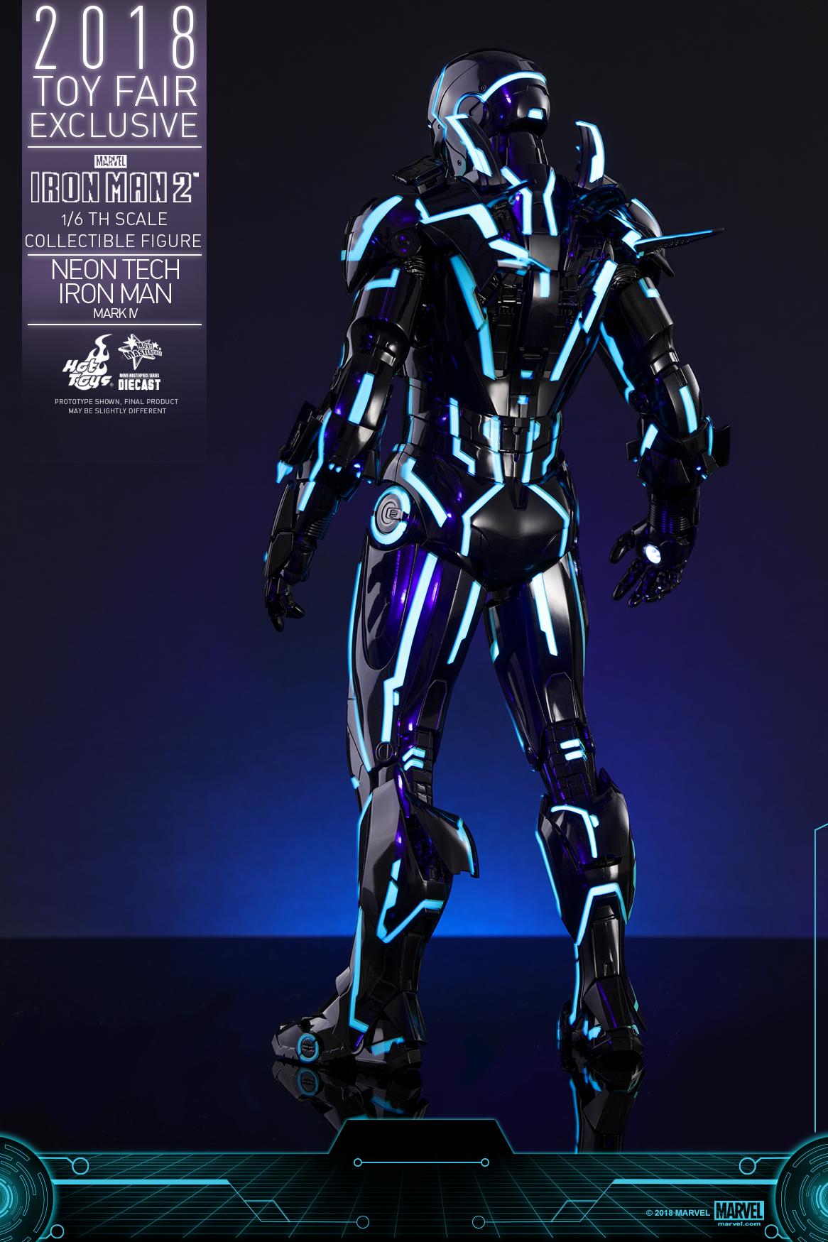 Hot Toys - Iron Man 2 - Neon Tech Iron Man Mark IV collectible figure_PR16