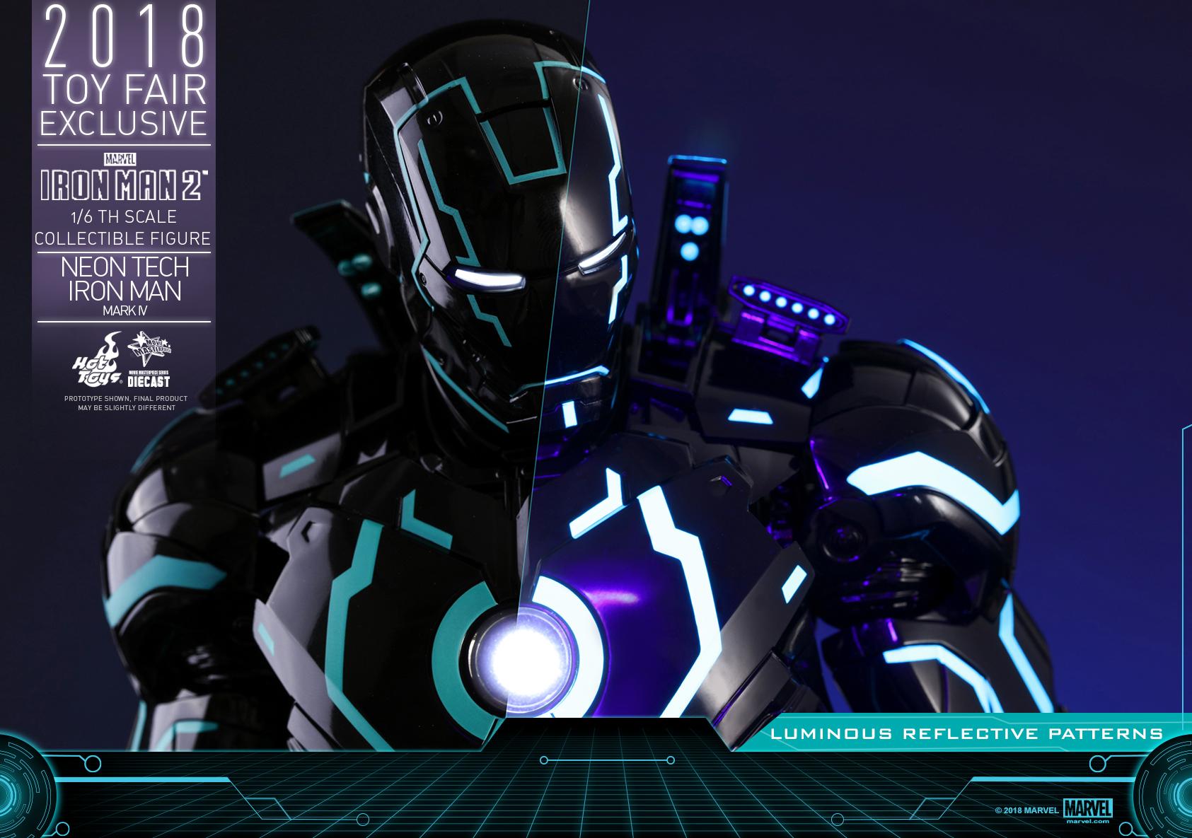Hot Toys - Iron Man 2 - Neon Tech Iron Man Mark IV collectible figure_PR21