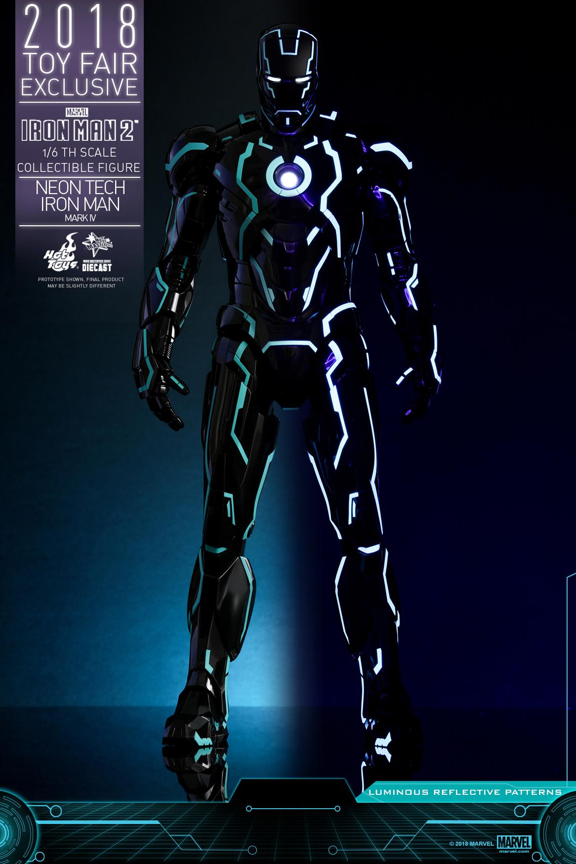 Hot Toys - Iron Man 2 - Neon Tech Iron Man Mark IV collectible figure_PR3