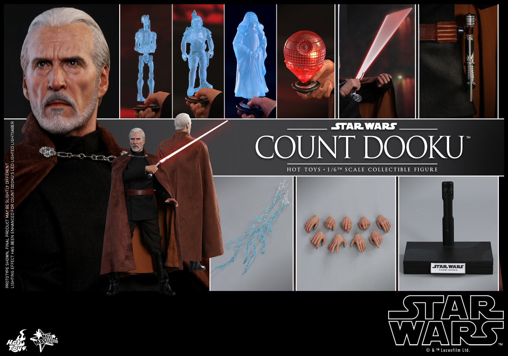 Hot Toys - Star Wars Episode II Attack of the Clones - Count Dooku Collectible Figure_PR18