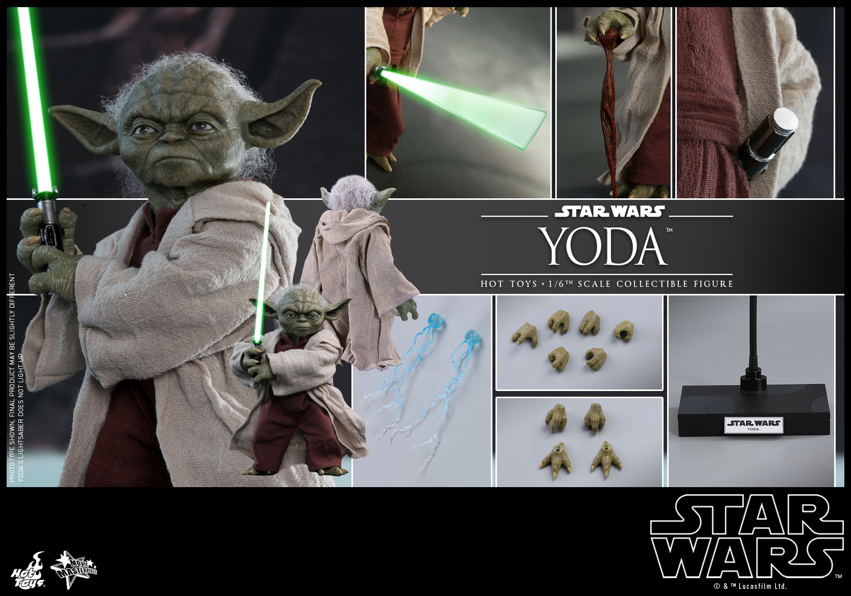Hot Toys - Star Wars Episode II Attack of the Clones - Yoda Collectible Figure_PR22
