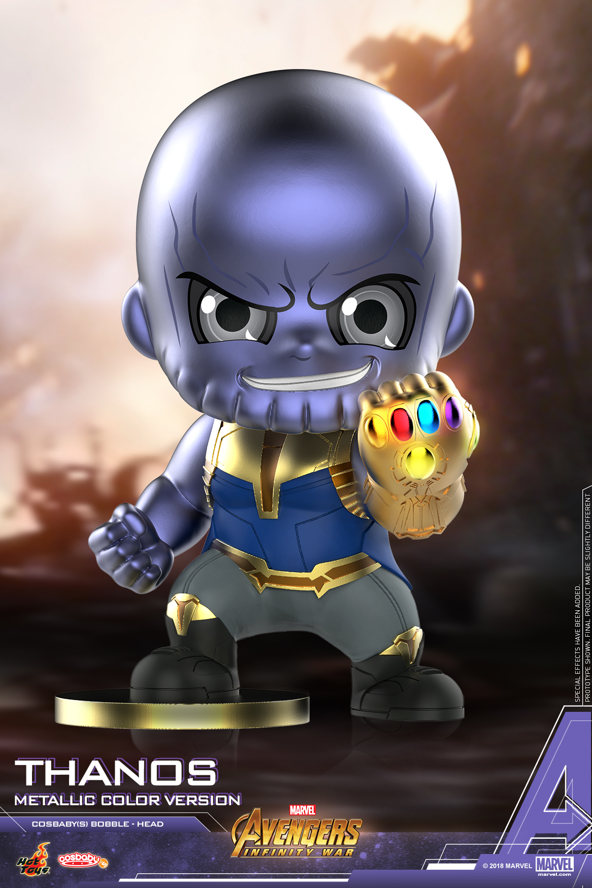 Hot Toys - Avengers 3 - Thanos (Metallic Color Version) Cosbaby (S)_PR2