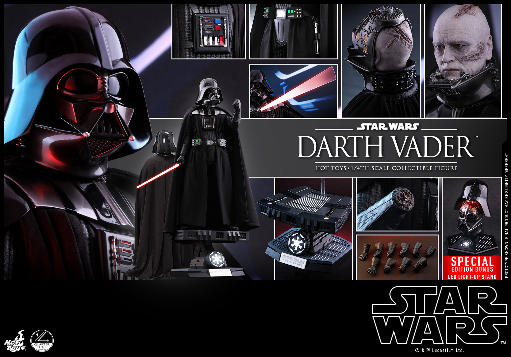 Hot Toys - Star Wars - 1-4 Darth Vader collectible figure_PR28 (Special Version)