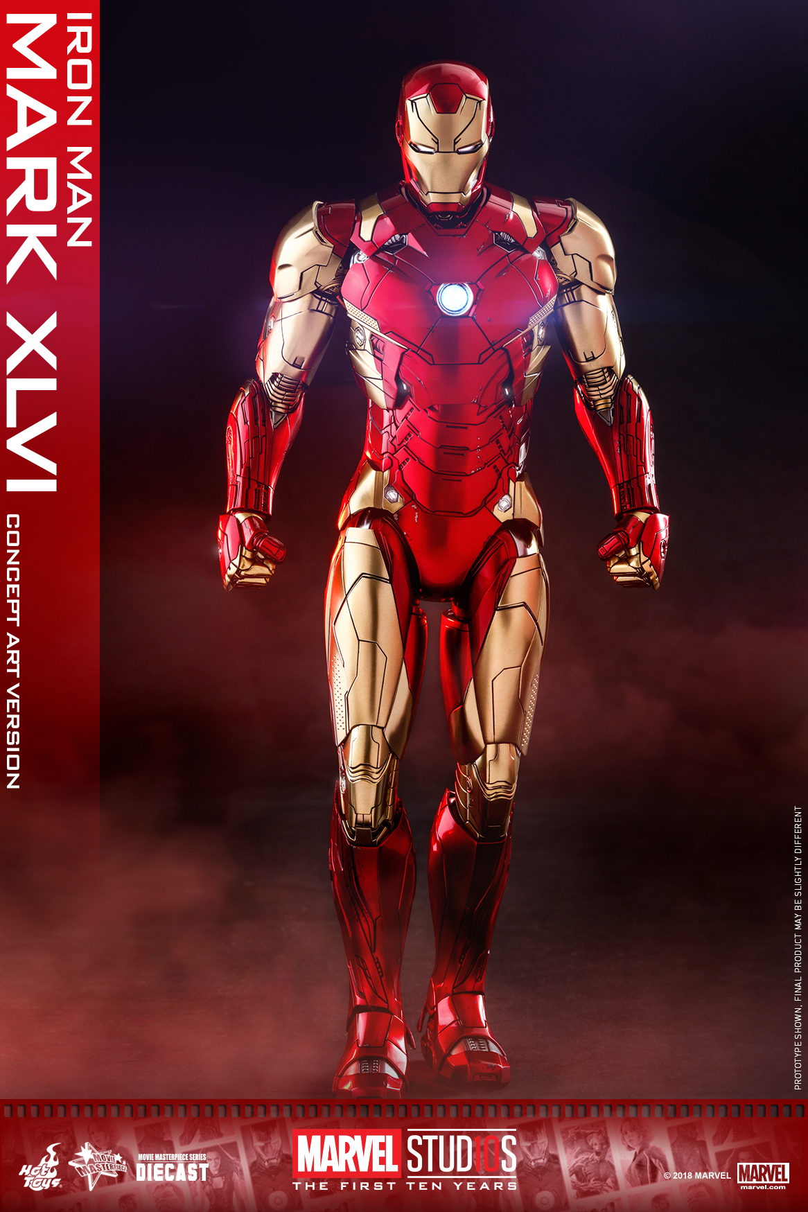 Hot Toys - MARVEL 10 - Iron Man Mark XLVI (Diecast) collectible figure_PR1