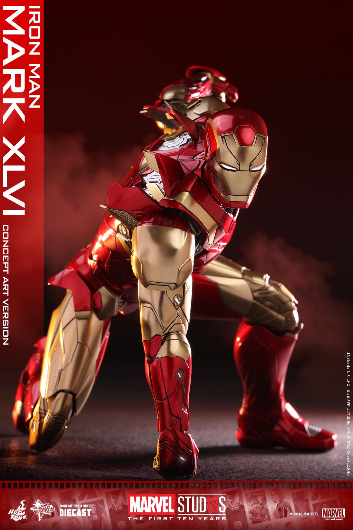 Hot Toys - MARVEL 10 - Iron Man Mark XLVI (Diecast) collectible figure_PR17