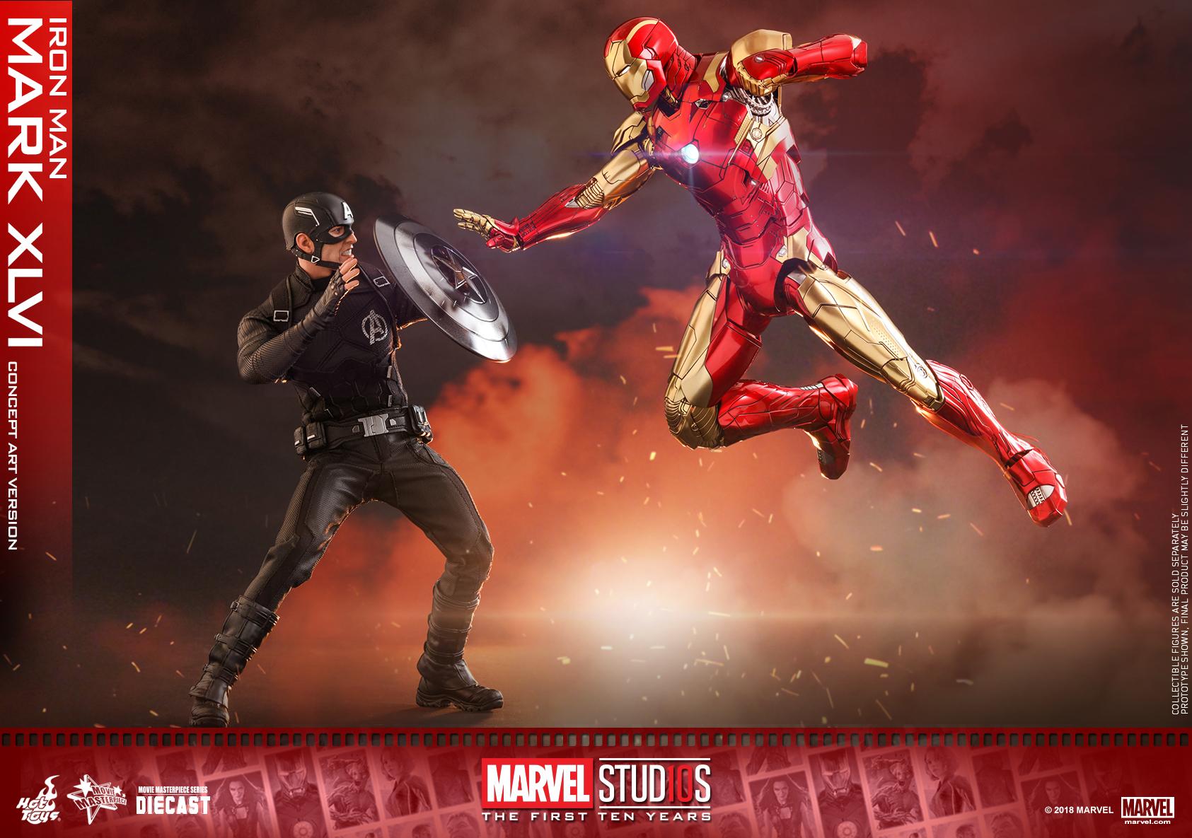 Hot Toys - MARVEL 10 - Iron Man Mark XLVI (Diecast) collectible figure_PR19