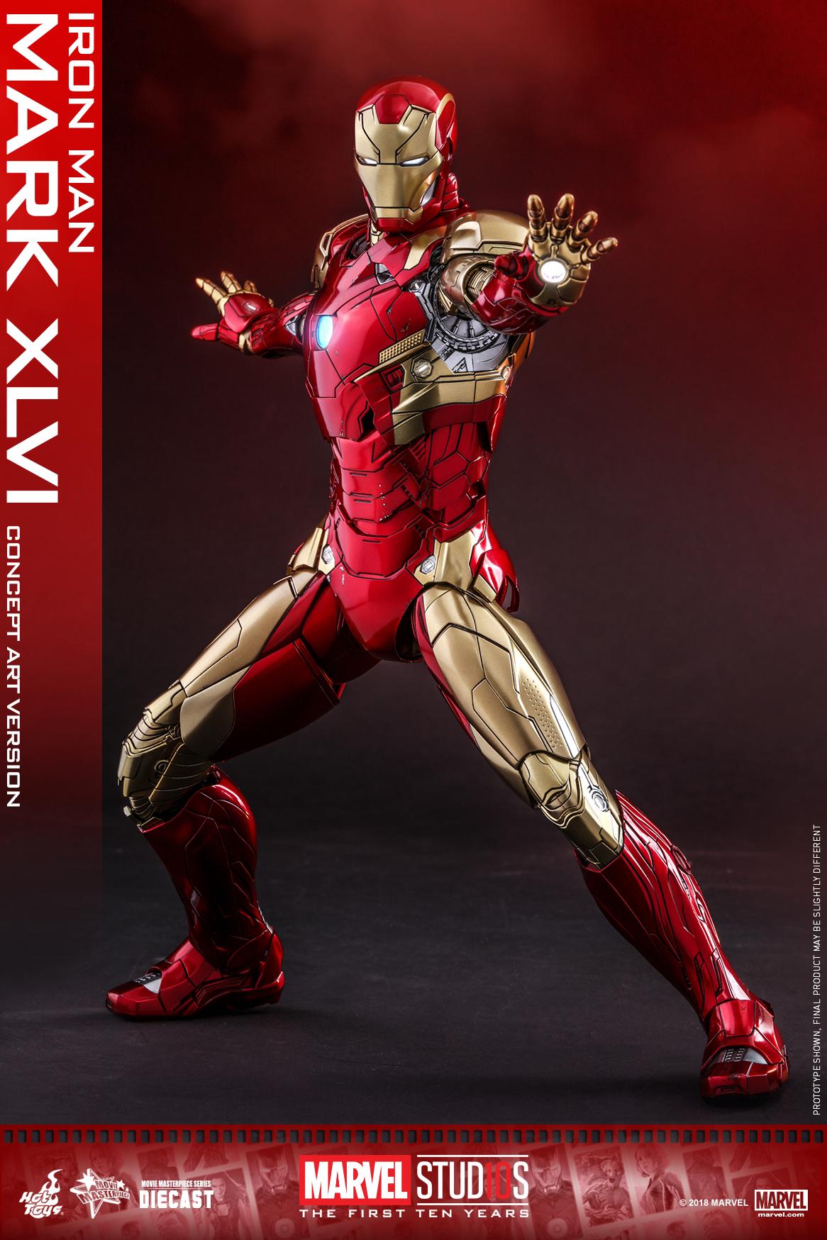 Hot Toys - MARVEL 10 - Iron Man Mark XLVI (Diecast) collectible figure_PR4