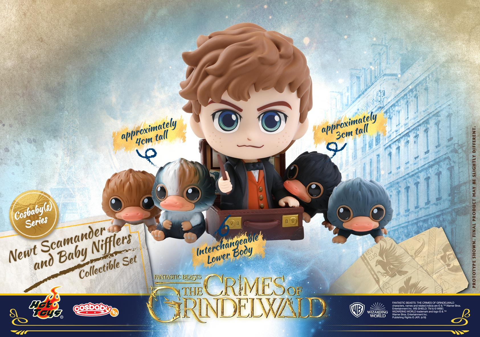 Hot-Toys---Fantastic-Beasts-2---Newt-Scamander-and-Baby-Nifflers-Cosbaby-(S)-Collectible-Set_PR1