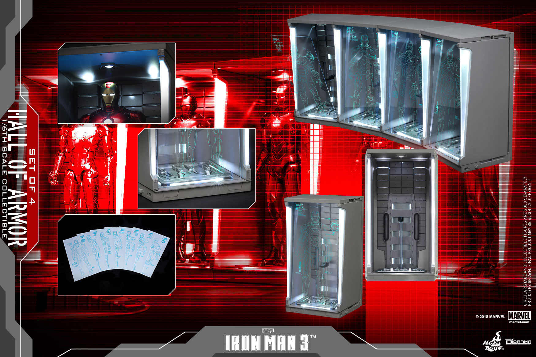 Hot-Toys---Iron-Man-3---Hall-of-Armor-(Set-of-4)_PR5