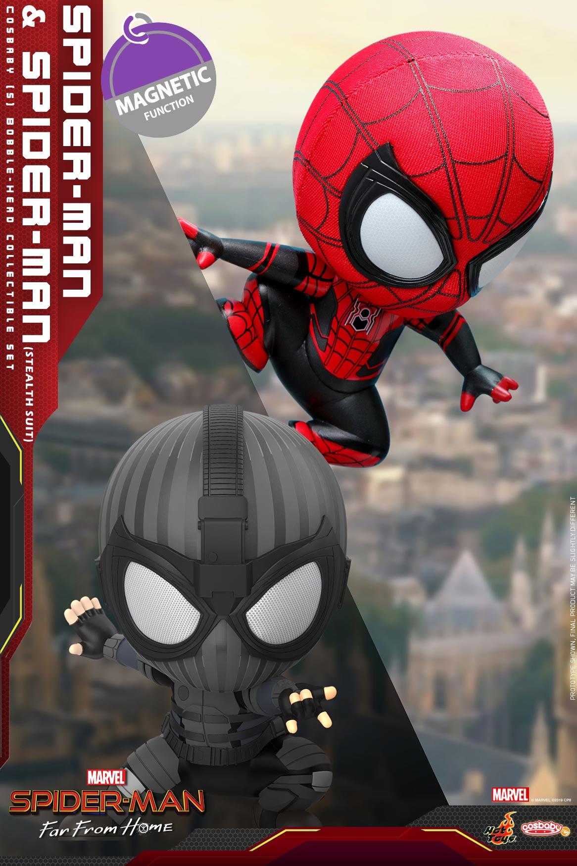 Hot-Toys---SMFFH---Spider-Man-&-Spider-Man-(Stealth-Suit)-Cosbaby-(S)-Set_PR1