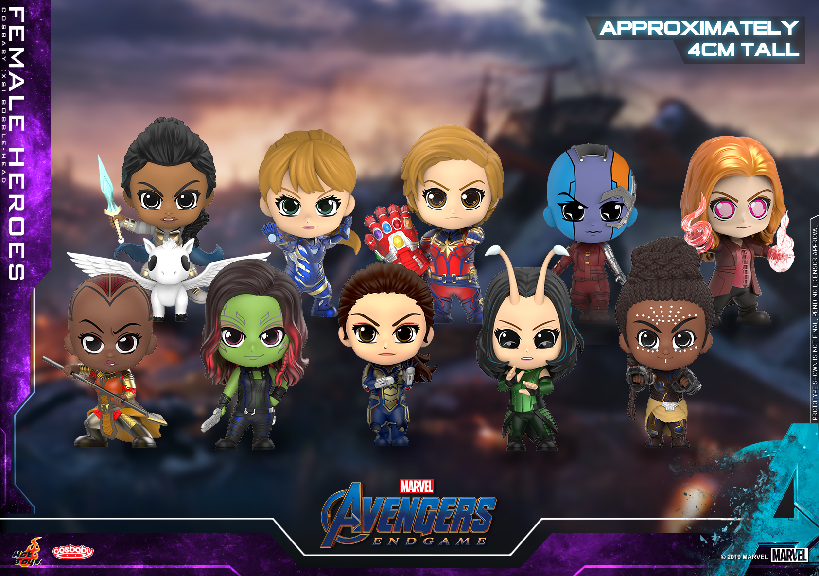 Hot Toys - Avengers Endgame - Female Heroes Cosbaby (XS) Bobble-Head Collectible Set_PR1