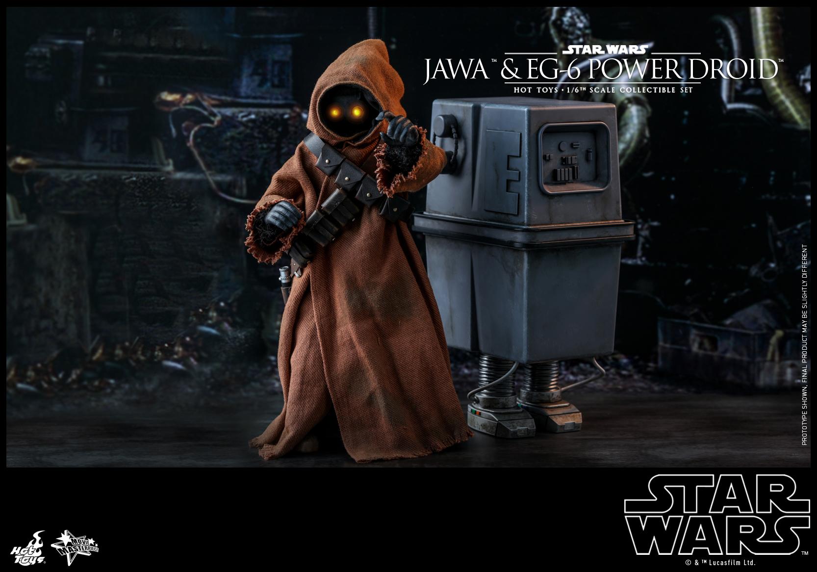 Hot Toys - Star Wars Epi 4 - Jawa & EG-6 Power Droid - PR13