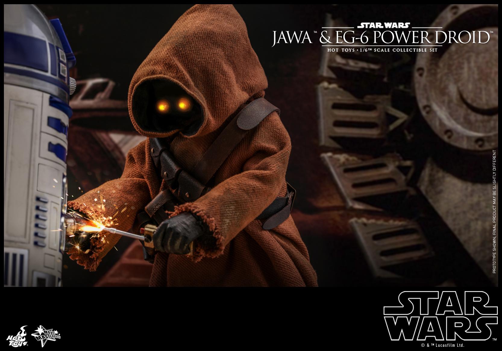 Hot Toys - Star Wars Epi 4 - Jawa & EG-6 Power Droid - PR16