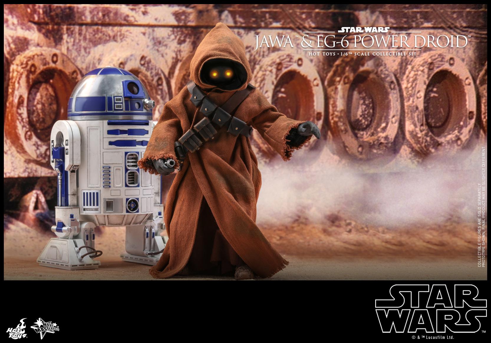 Hot Toys - Star Wars Epi 4 - Jawa & EG-6 Power Droid - PR17