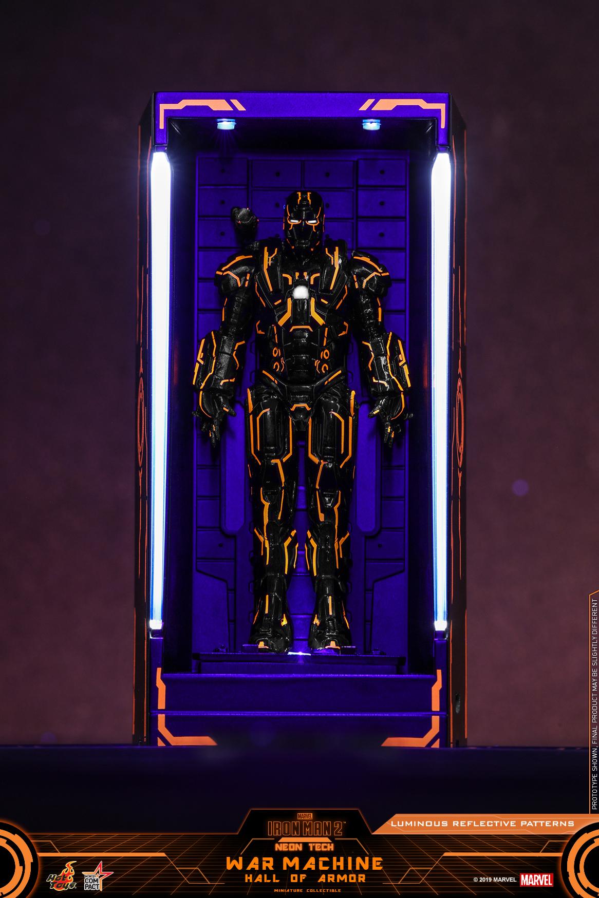 Hot Toys - IM2 - Neon Tech War Machine Hall of Armor Miniature Collectible_PR1