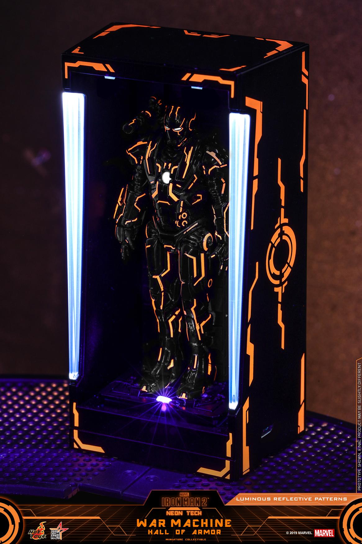 Hot Toys - IM2 - Neon Tech War Machine Hall of Armor Miniature Collectible_PR2
