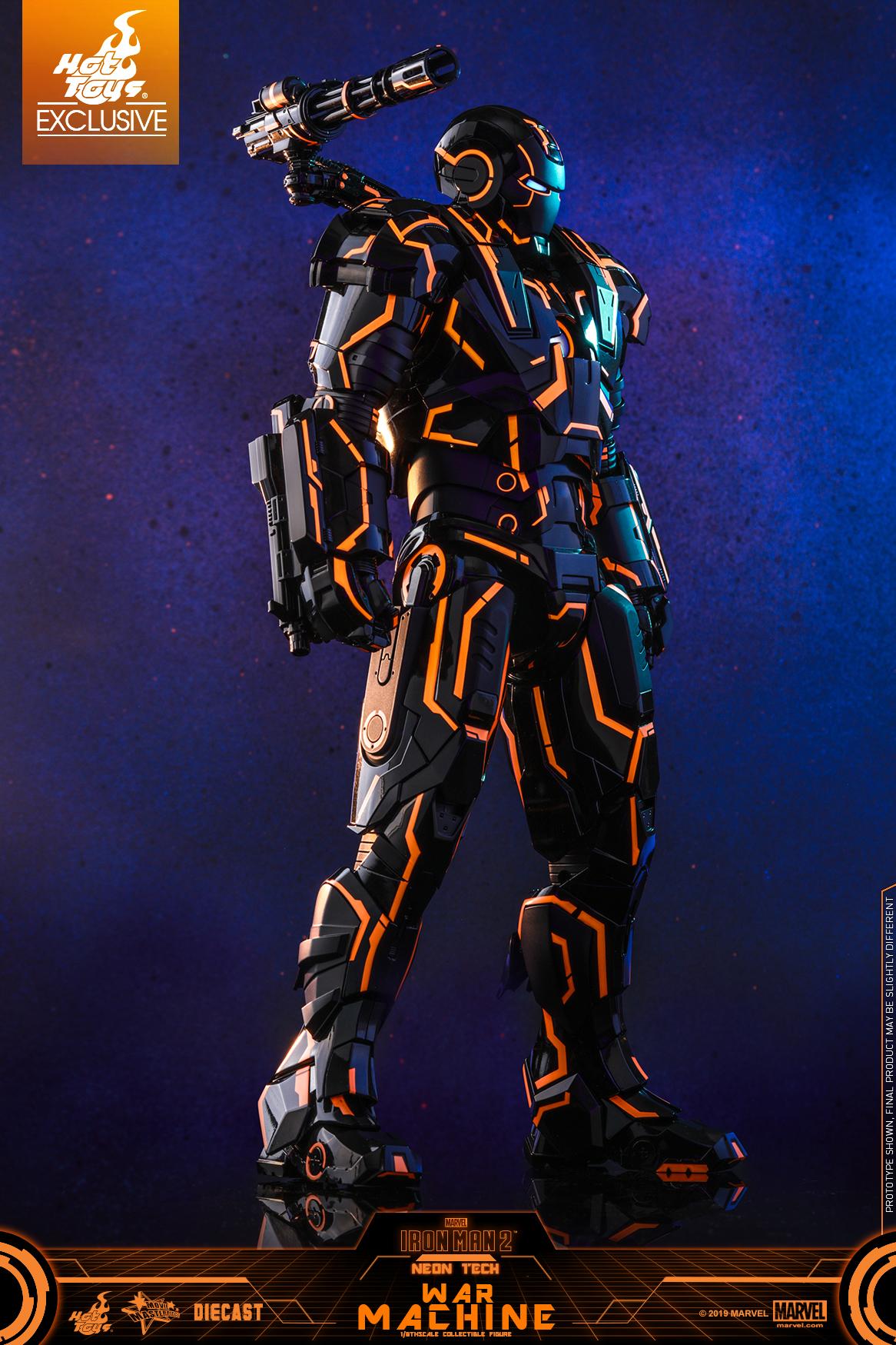 Hot Toys - Iron Man 2 - Neon Tech War Machine _PR17