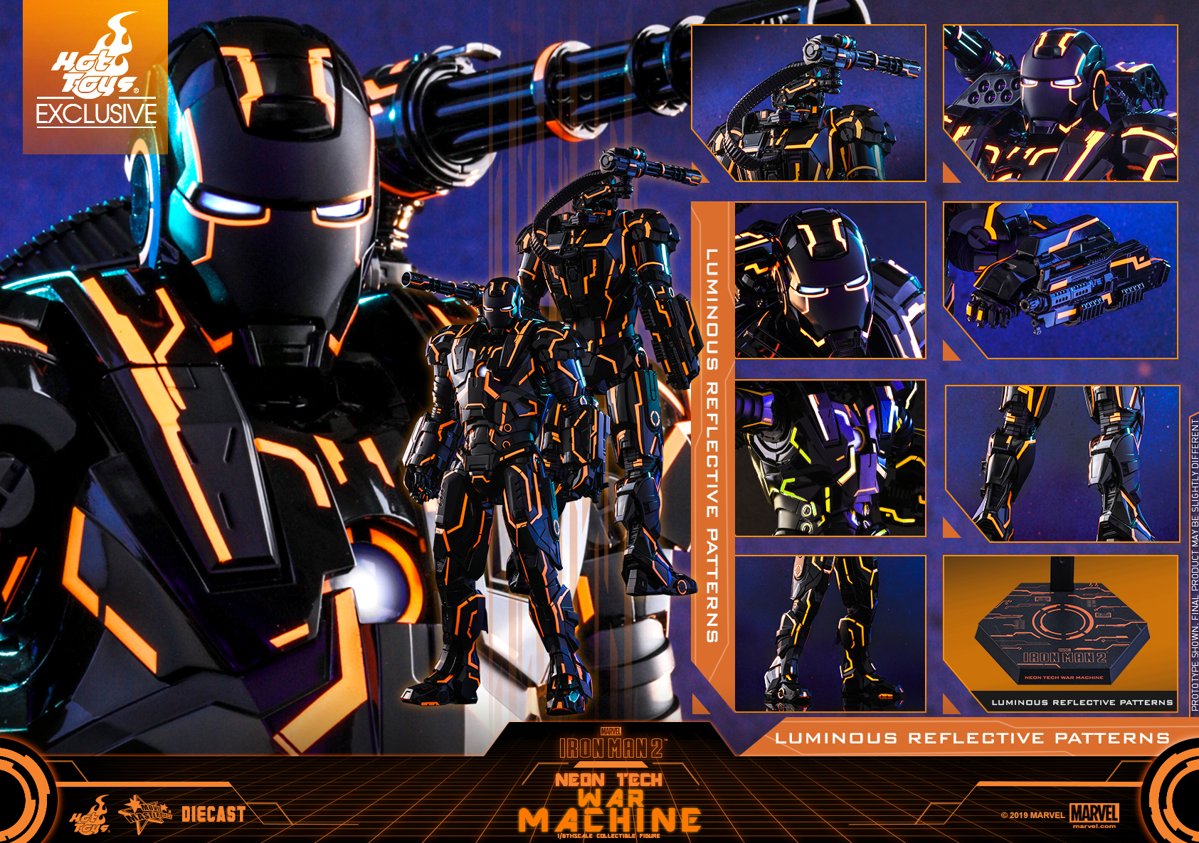 Hot Toys - Iron Man 2 - Neon Tech War Machine _PR20