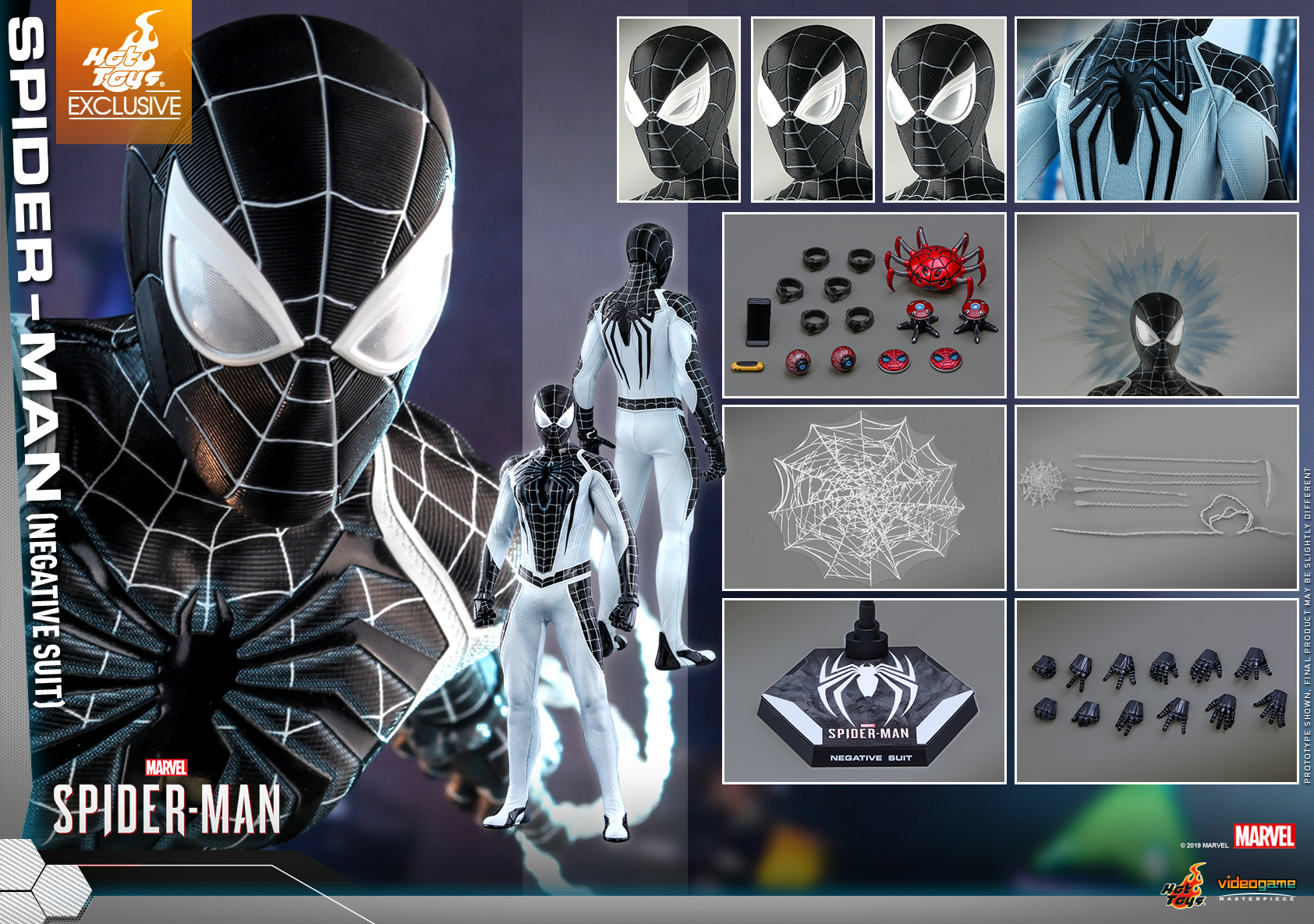Hot Toys - Marvel Spider-Man - Spider-Man (Negative Suit) collectible figure_PR15