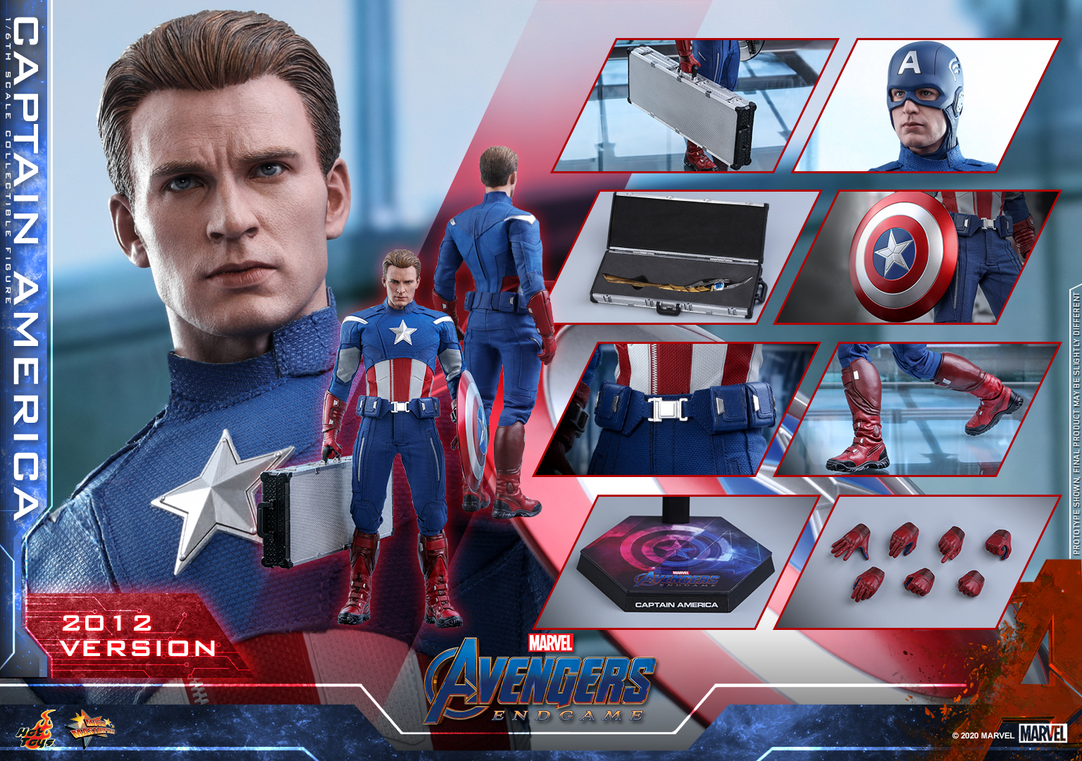 Hot Toys - A4 - Captain America (2012 Version) Collectible Figure_PR23