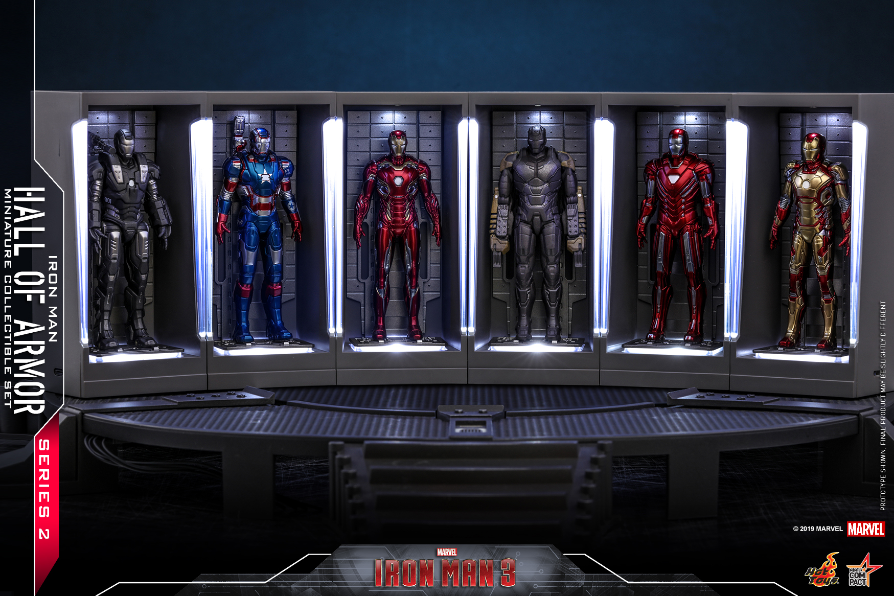 Hot Toys - IM3 - Iron Man Hall of Armor Series 2 Miniature Collectible Set_PR1