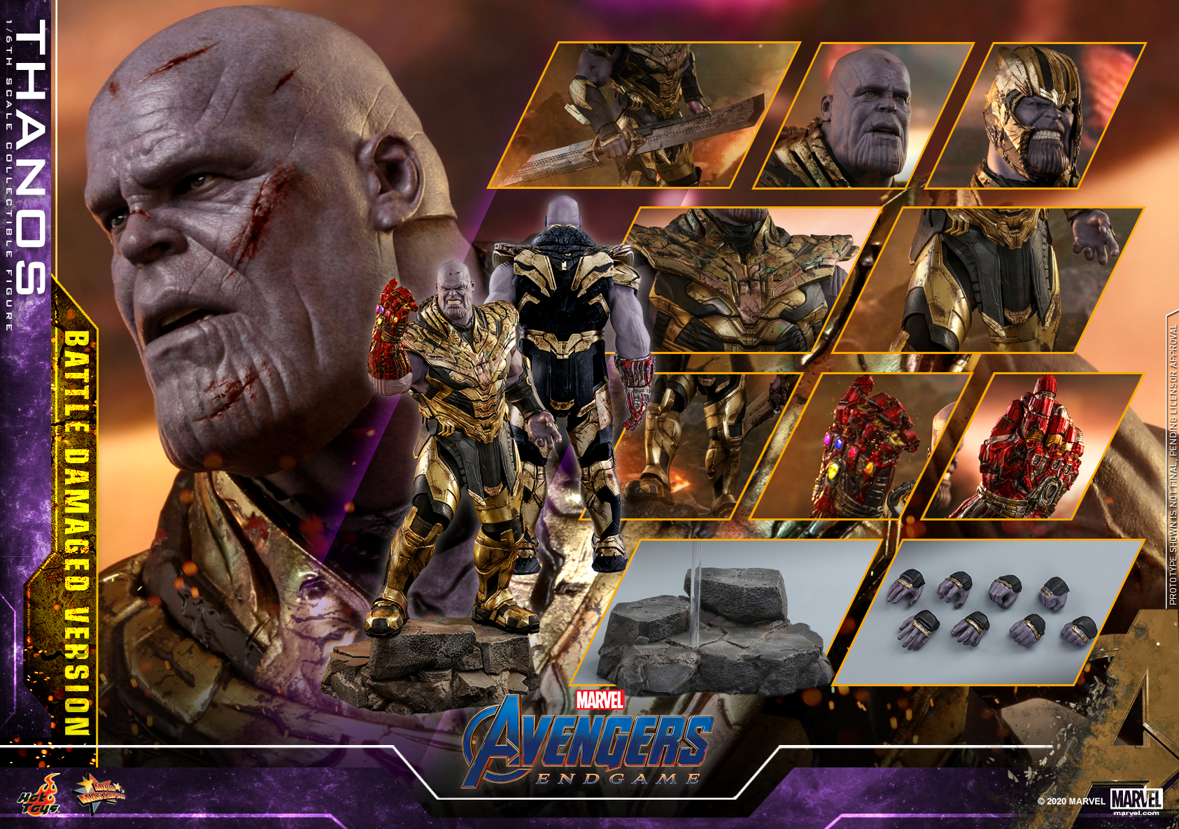 Hot Toys - A4 - Thanos (Battle Damaged Version) Collectible Figure_PR22