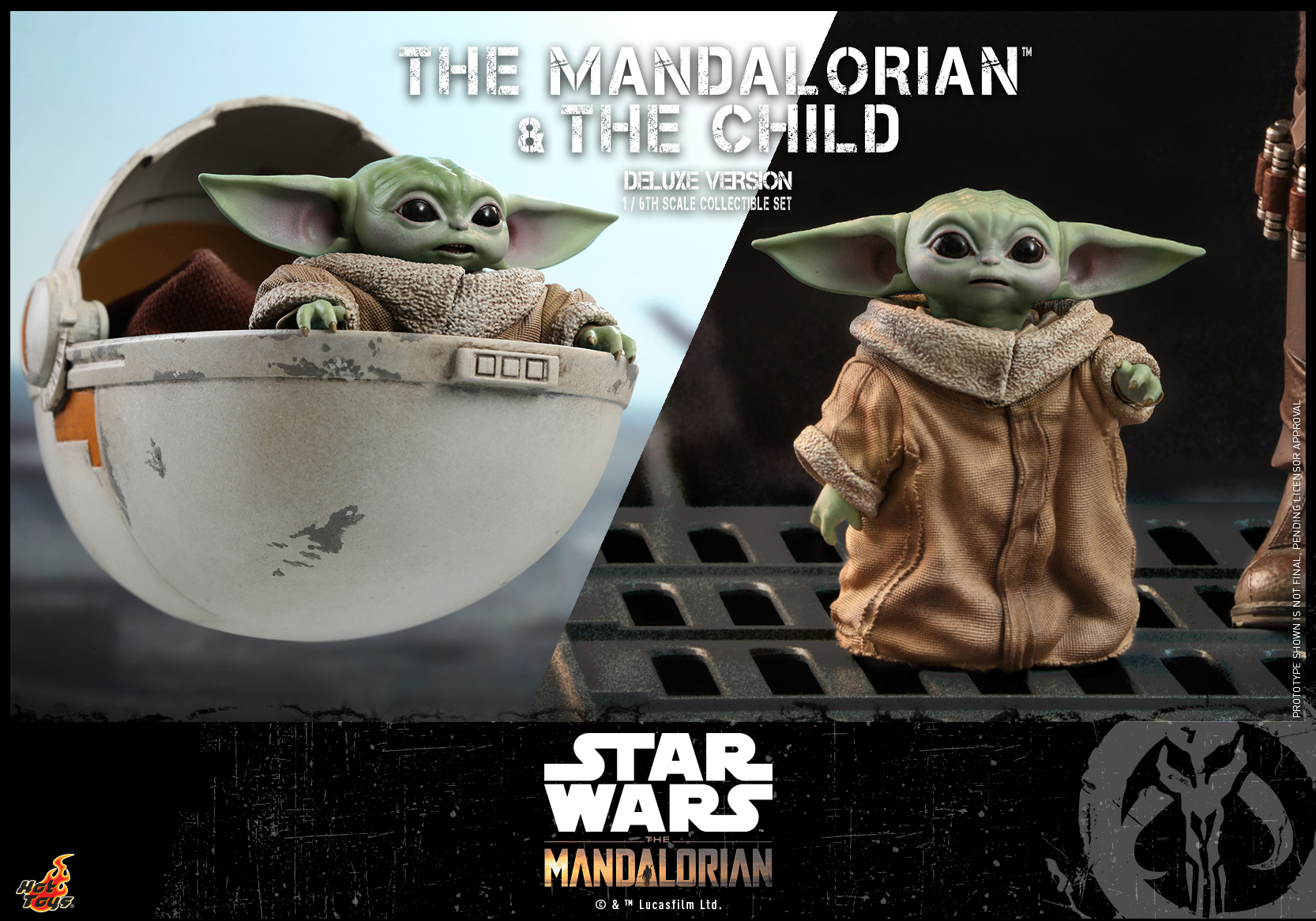 Hot Toys - STM - Mandalorian and Child Collectible Set (Deluxe)_PR15