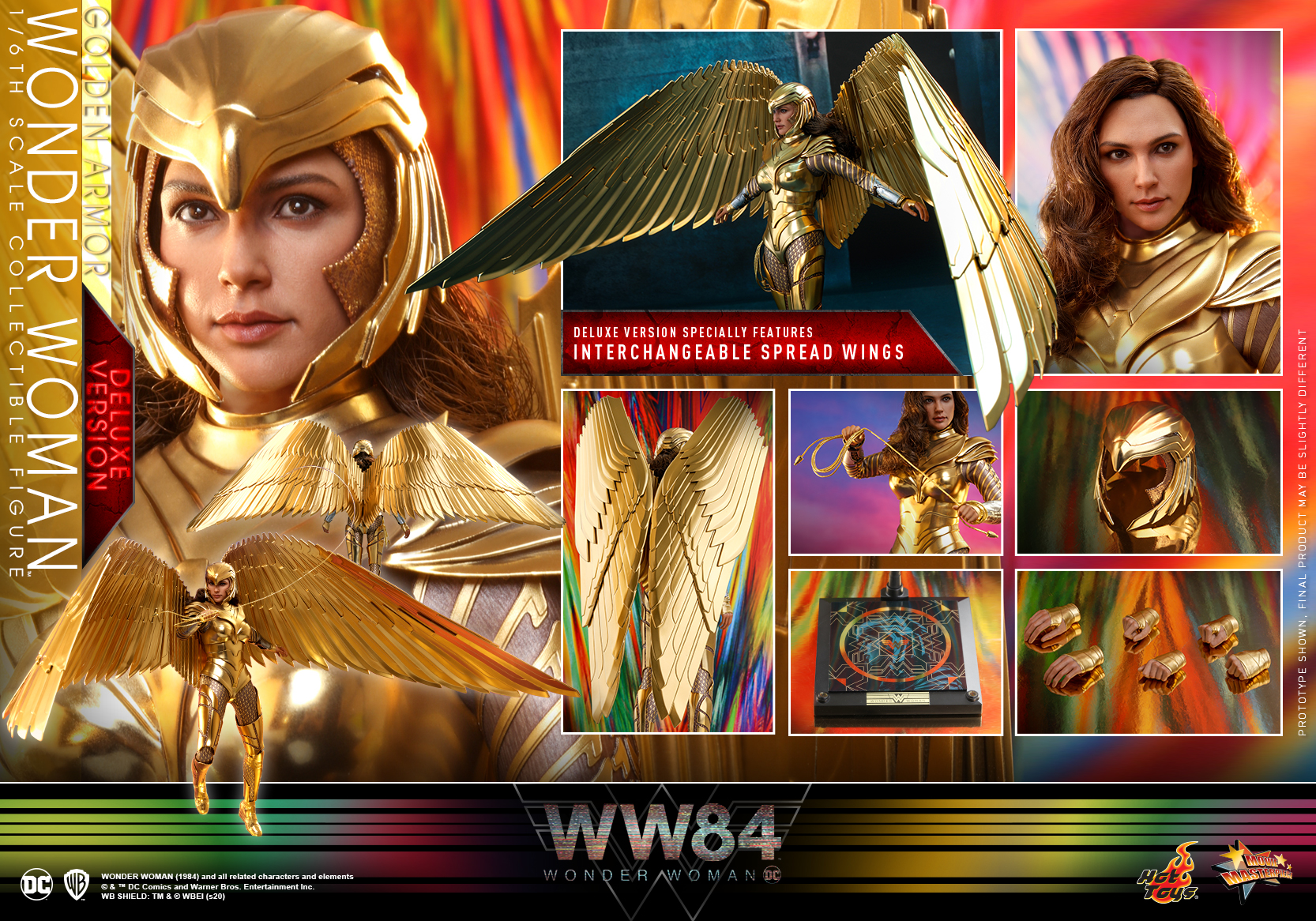Hot Toys - WW84 - Golden Armor Wonder Woman collectible figure (Deluxe)_PR21