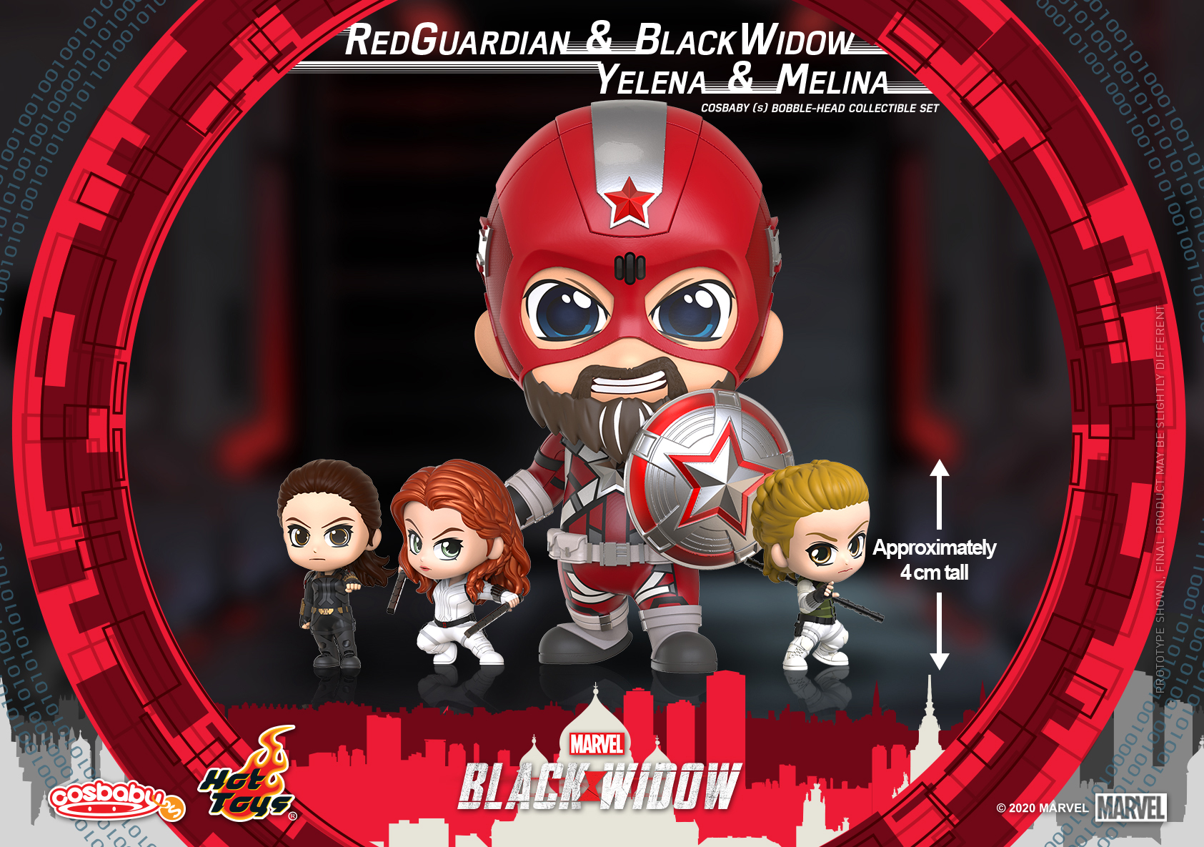 Hot Toys - Black Widow - Red Guardian, Black Widow, Yelena, and Melina Cosbaby (S) Bobble-Head Collectible Set_PR2