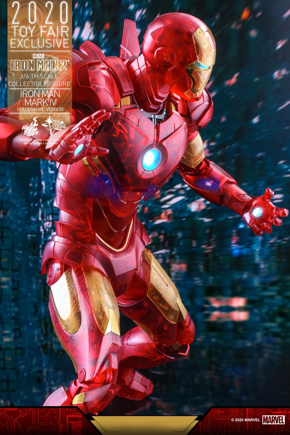 Hot Toys - IM2 - Iron Man Mark IV (Holographic Version) collectible figure_PR14