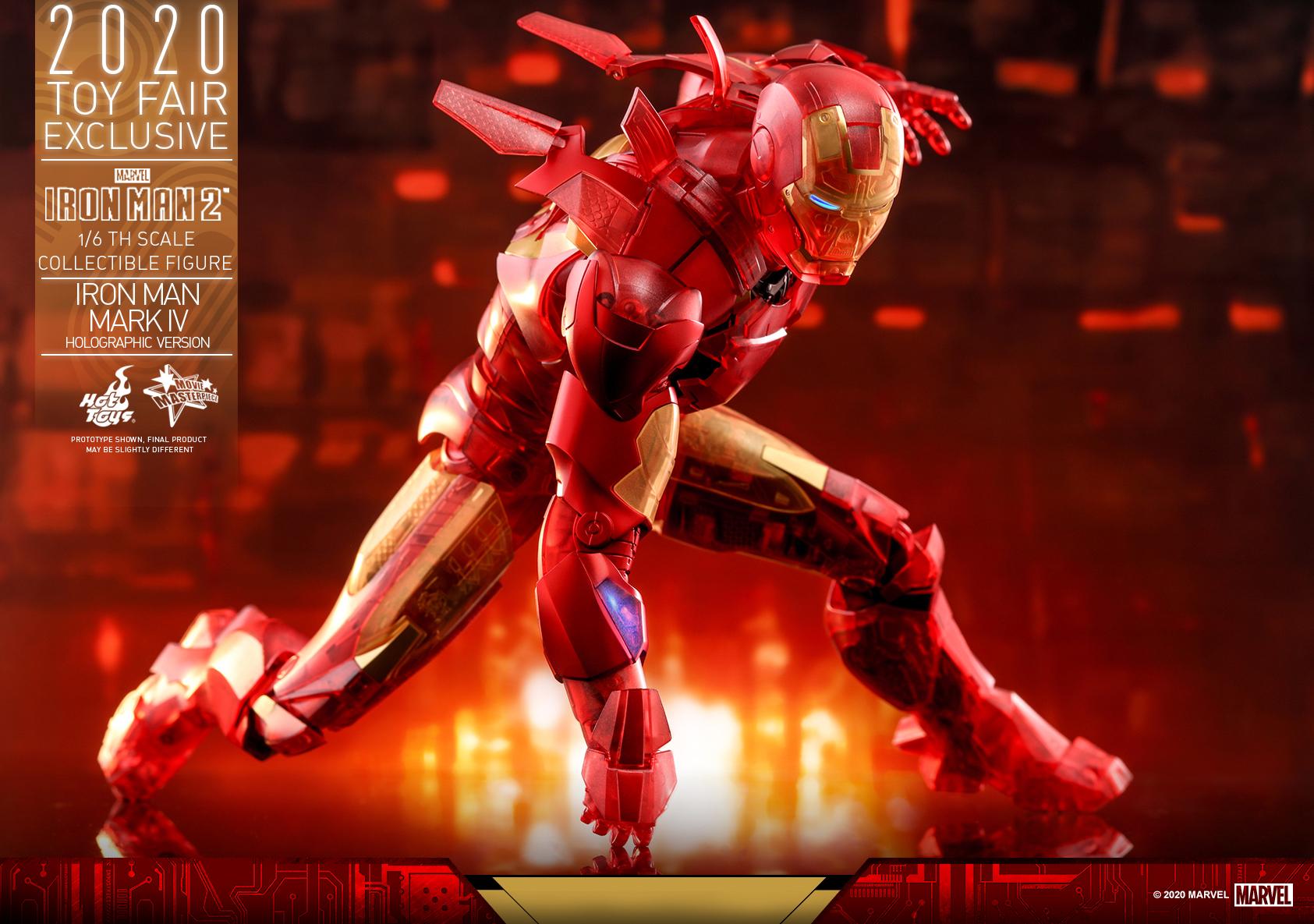 Hot Toys - IM2 - Iron Man Mark IV (Holographic Version) collectible figure_PR16