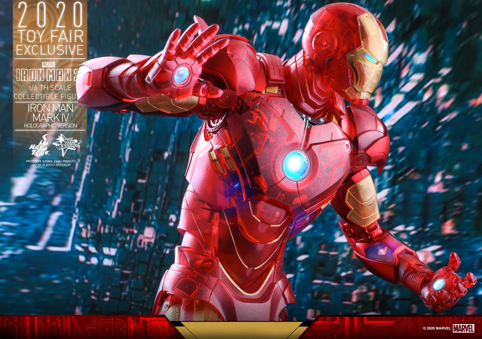 Hot Toys - IM2 - Iron Man Mark IV (Holographic Version) collectible figure_PR18