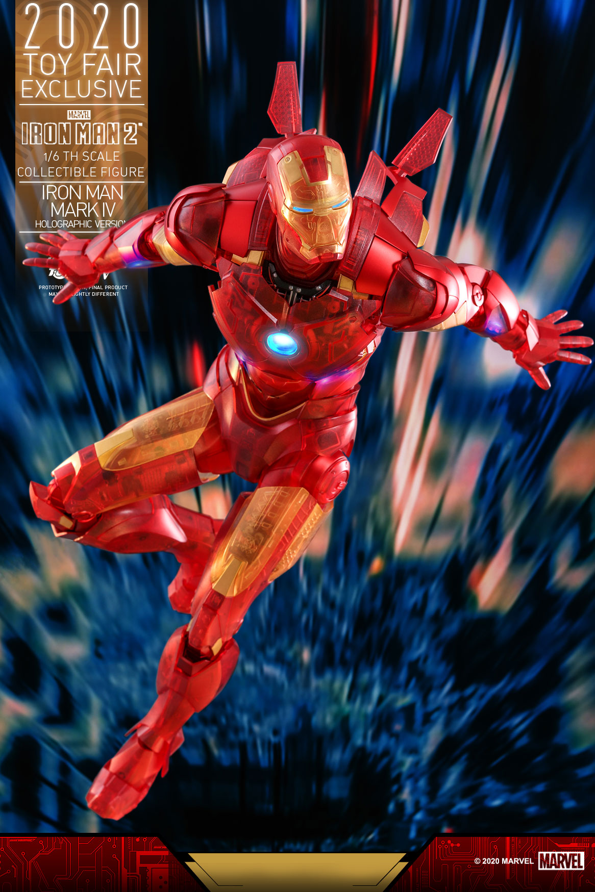 Hot Toys - IM2 - Iron Man Mark IV (Holographic Version) collectible figure_PR6