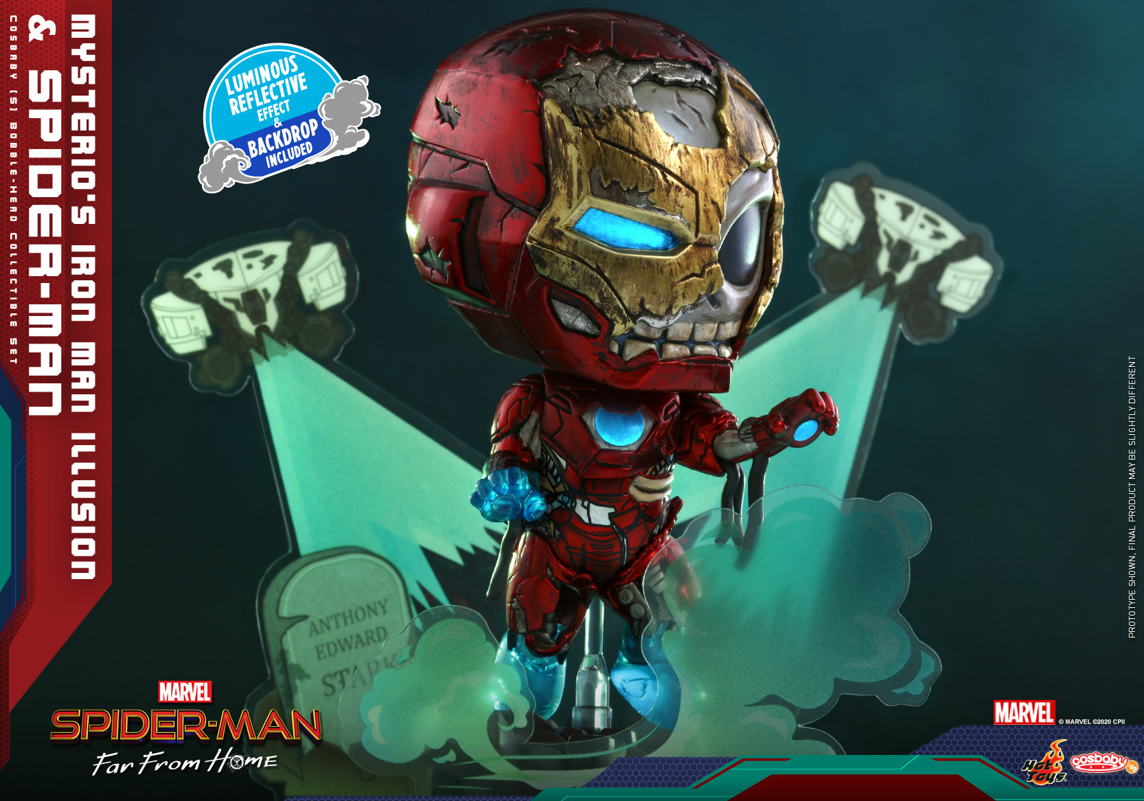 Hot Toys - SMFFH - Mysterios Iron Man Illusion and Spider-Man Cosbaby_PR3