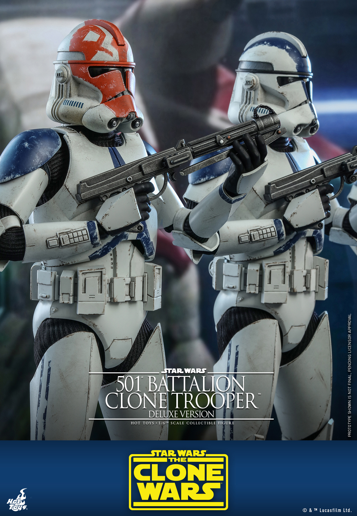 Hot Toys - SWCW - 501 Battalion Clone Trooper collectible figure (Deluxe)_PR10